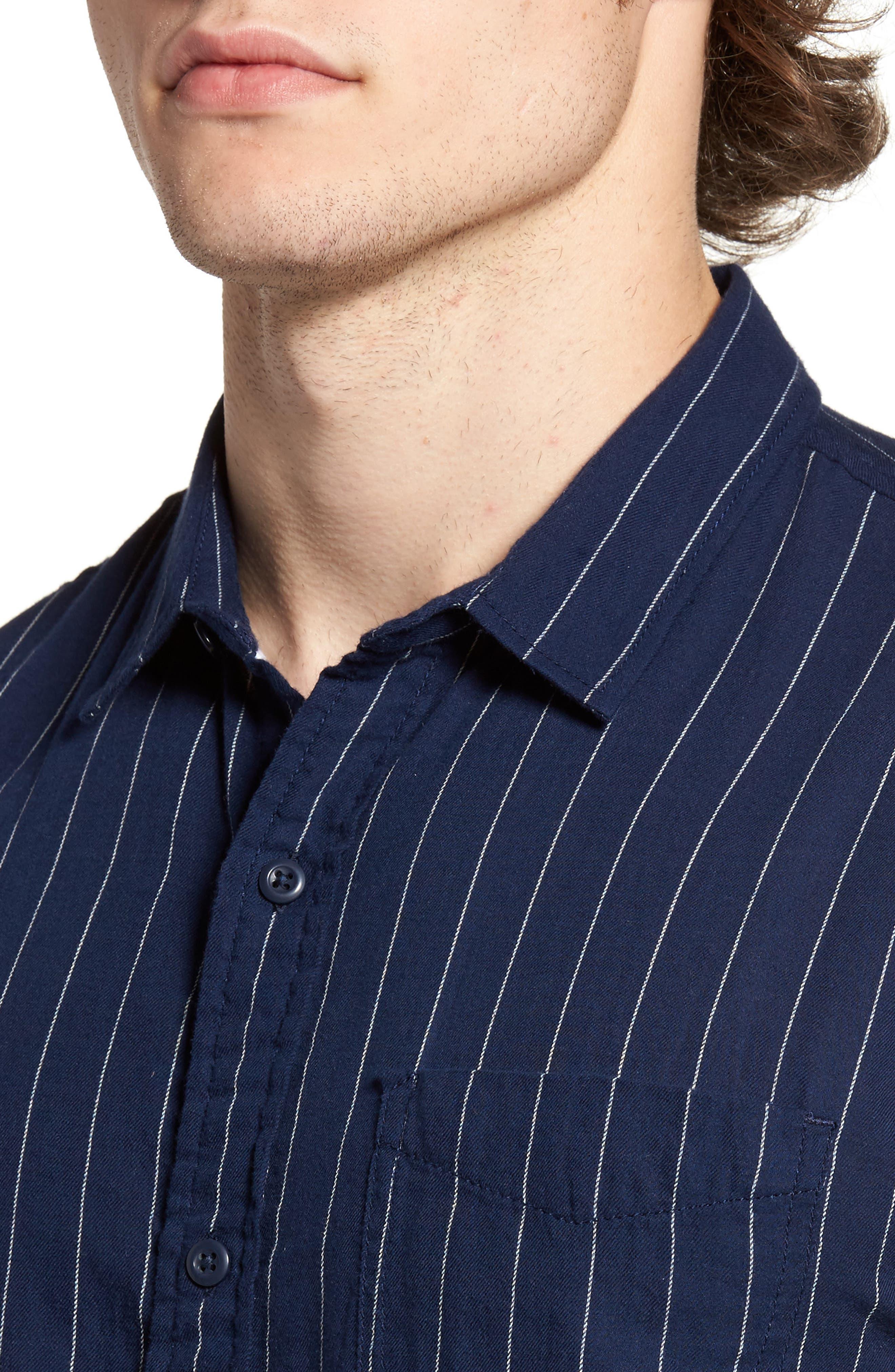 Stripe Twill Shirt,                             Alternate thumbnail 4, color,                             410