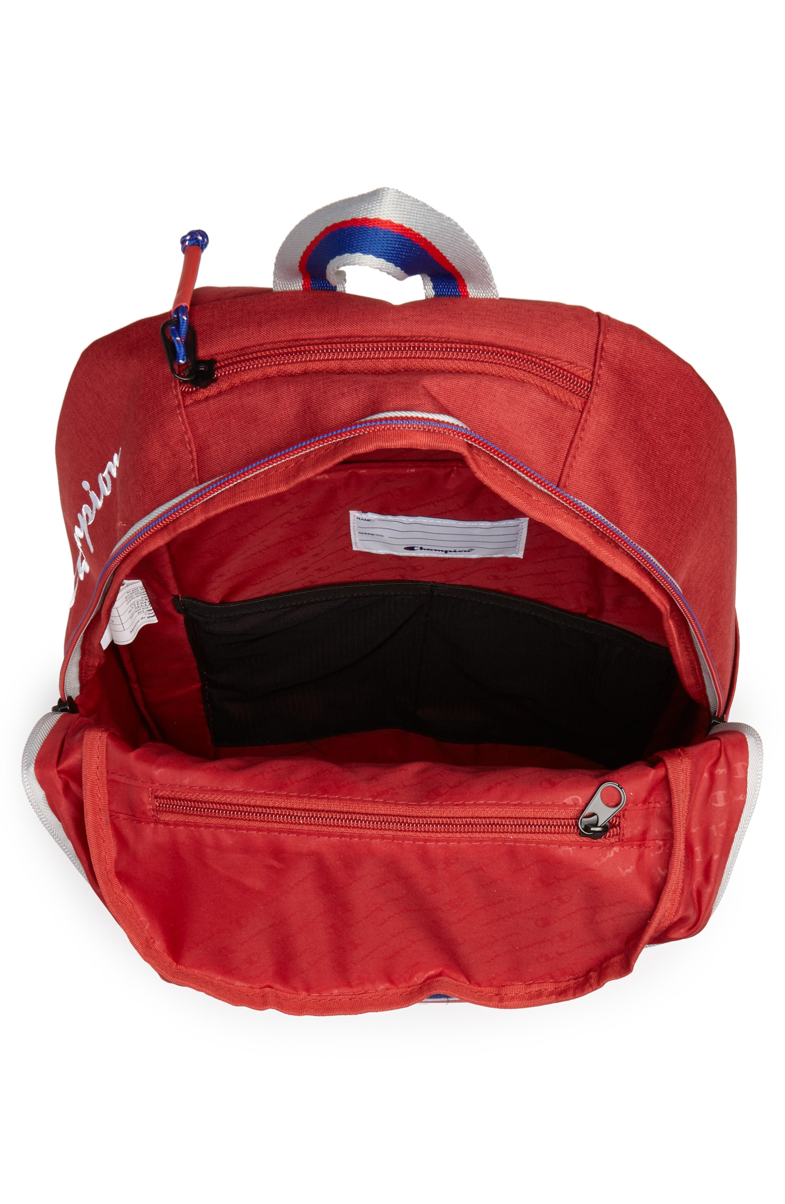 Supercize Backpack,                             Alternate thumbnail 4, color,                             SCARLET HEATHER