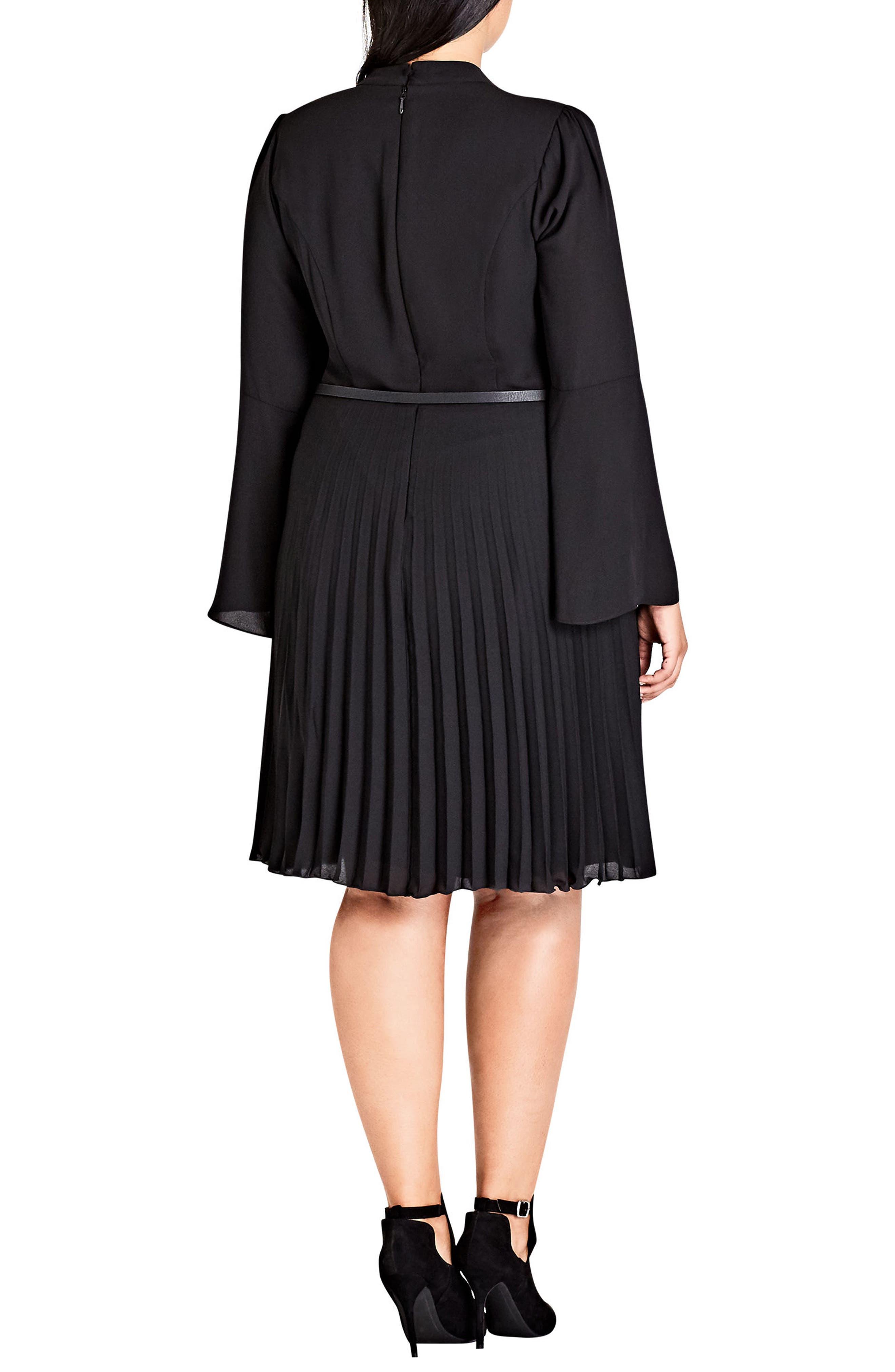 Praise Me Bell Sleeve Choker Neck Dress,                             Alternate thumbnail 2, color,                             001