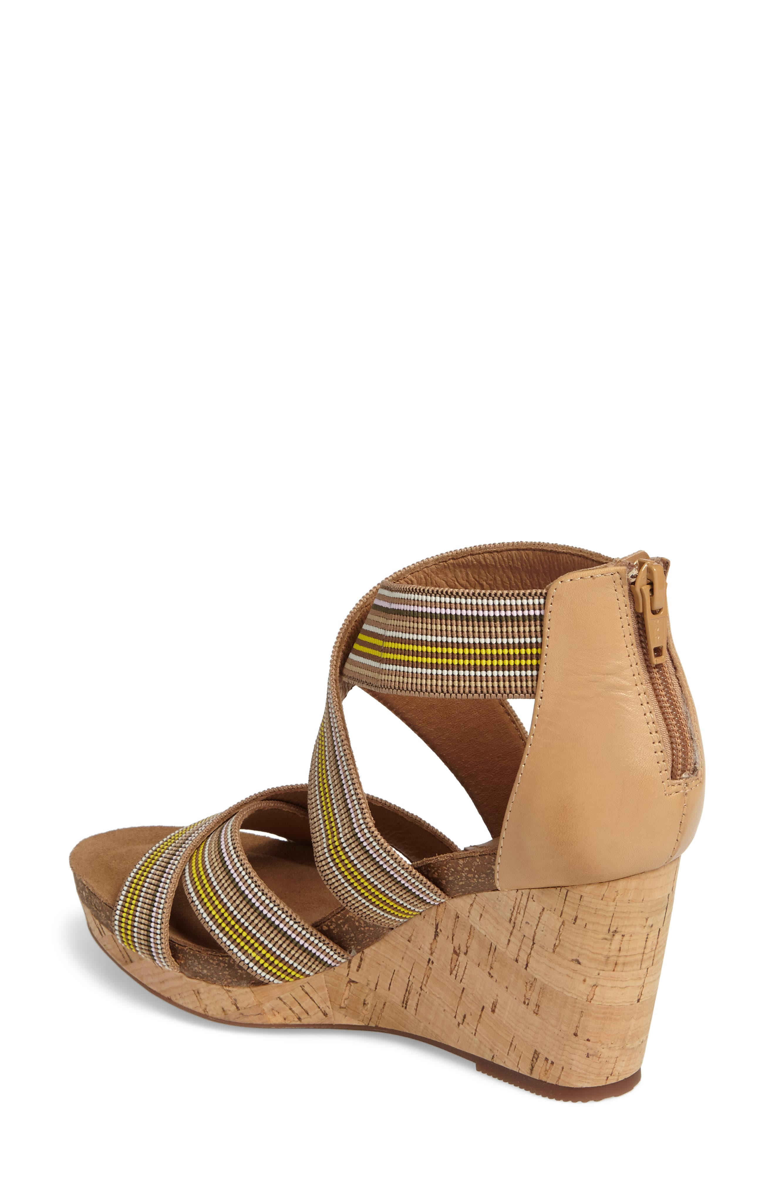 Cary Cross Strap Wedge Sandal,                             Alternate thumbnail 4, color,