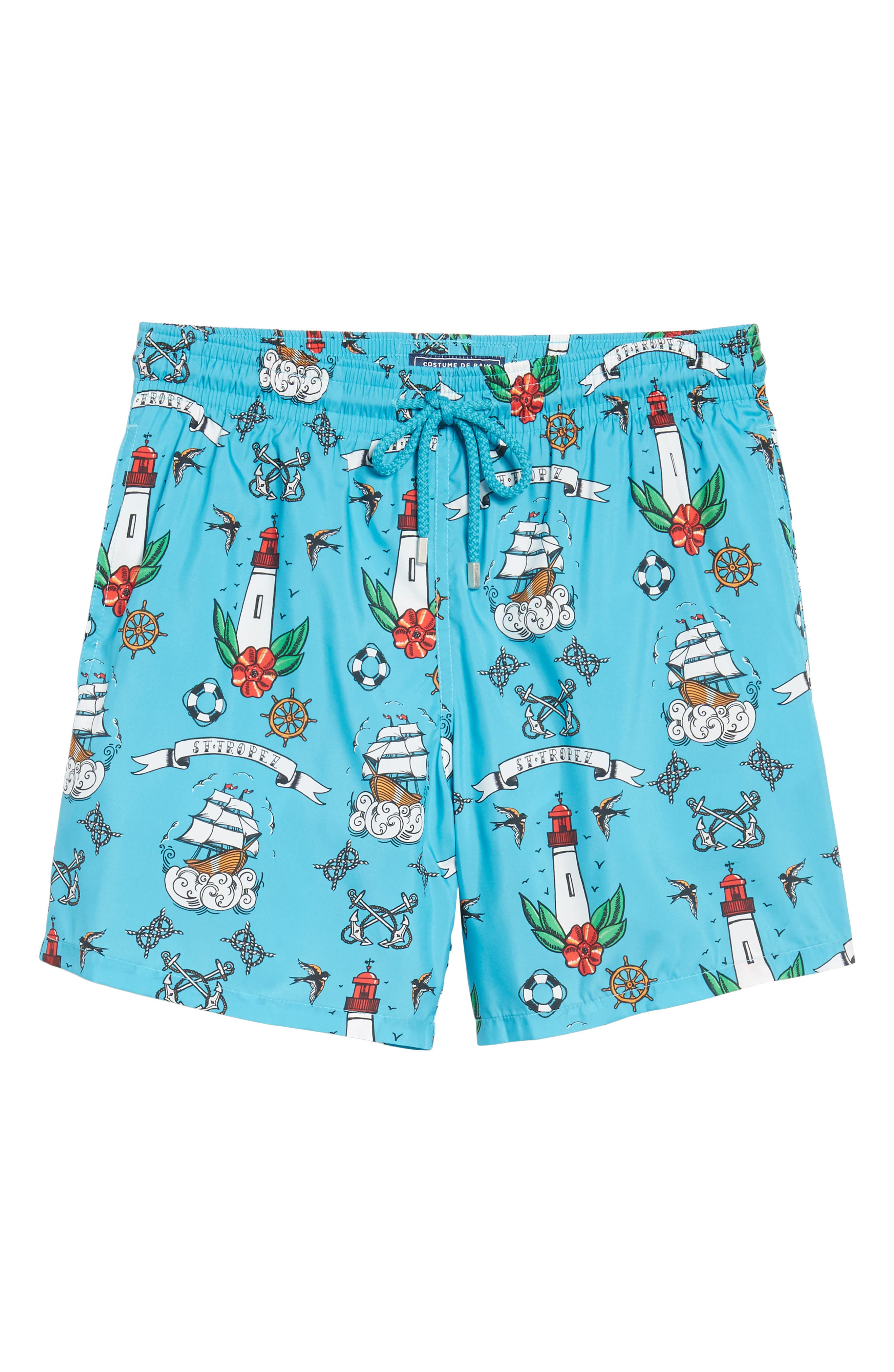 Tattoo Sashimi Swim Trunks,                             Alternate thumbnail 6, color,