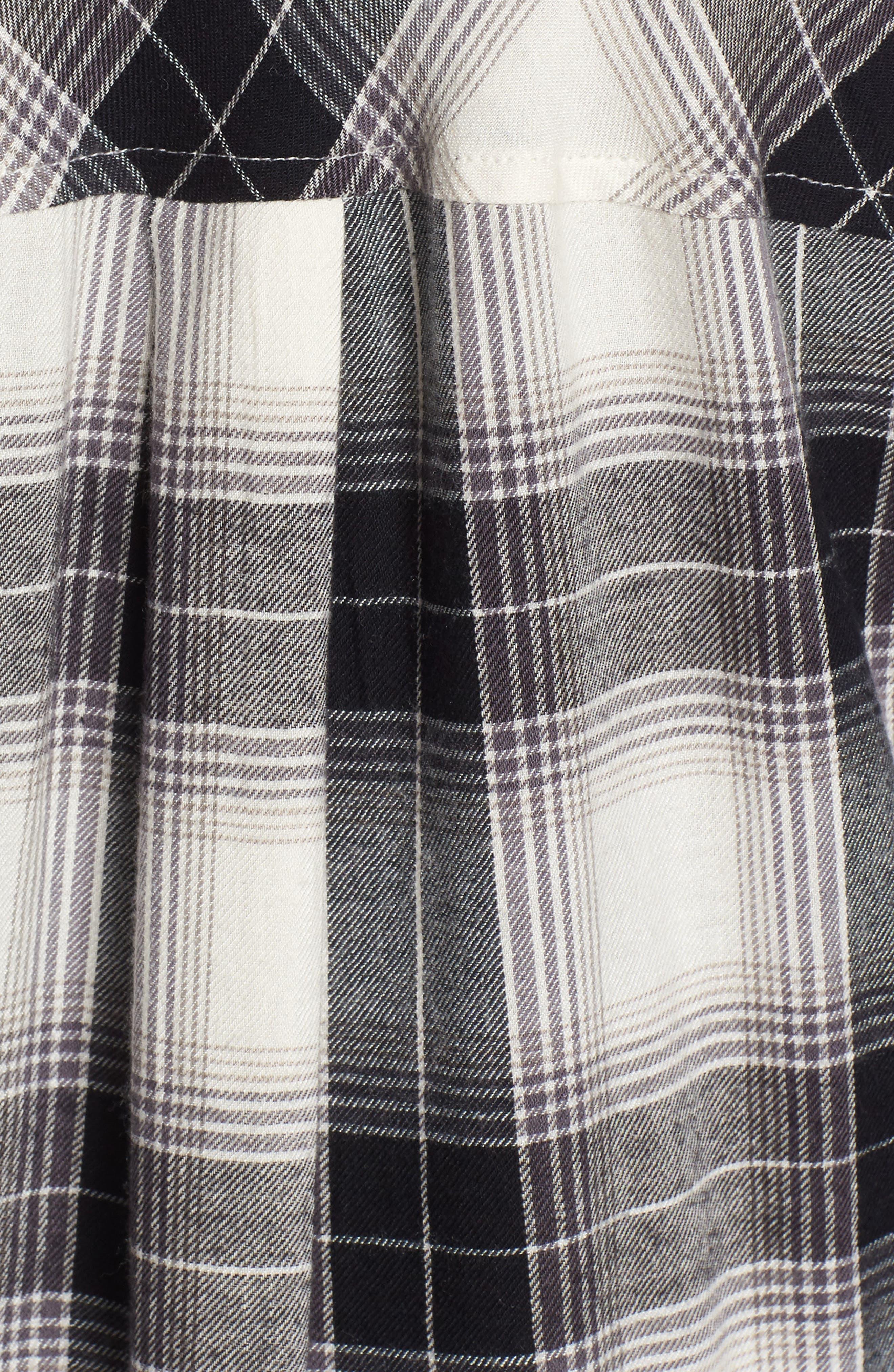 Plaid Cotton Blend Shirt,                             Alternate thumbnail 25, color,
