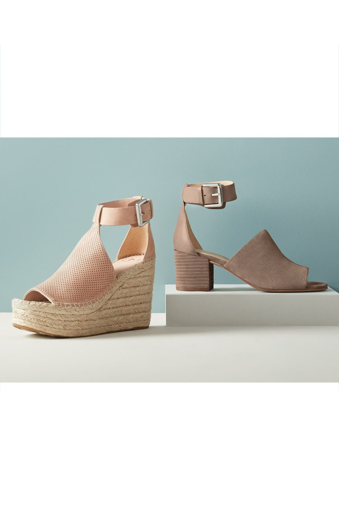 MARC FISHER LTD,                             Annie Perforated Espadrille Platform Wedge,                             Alternate thumbnail 8, color,                             435