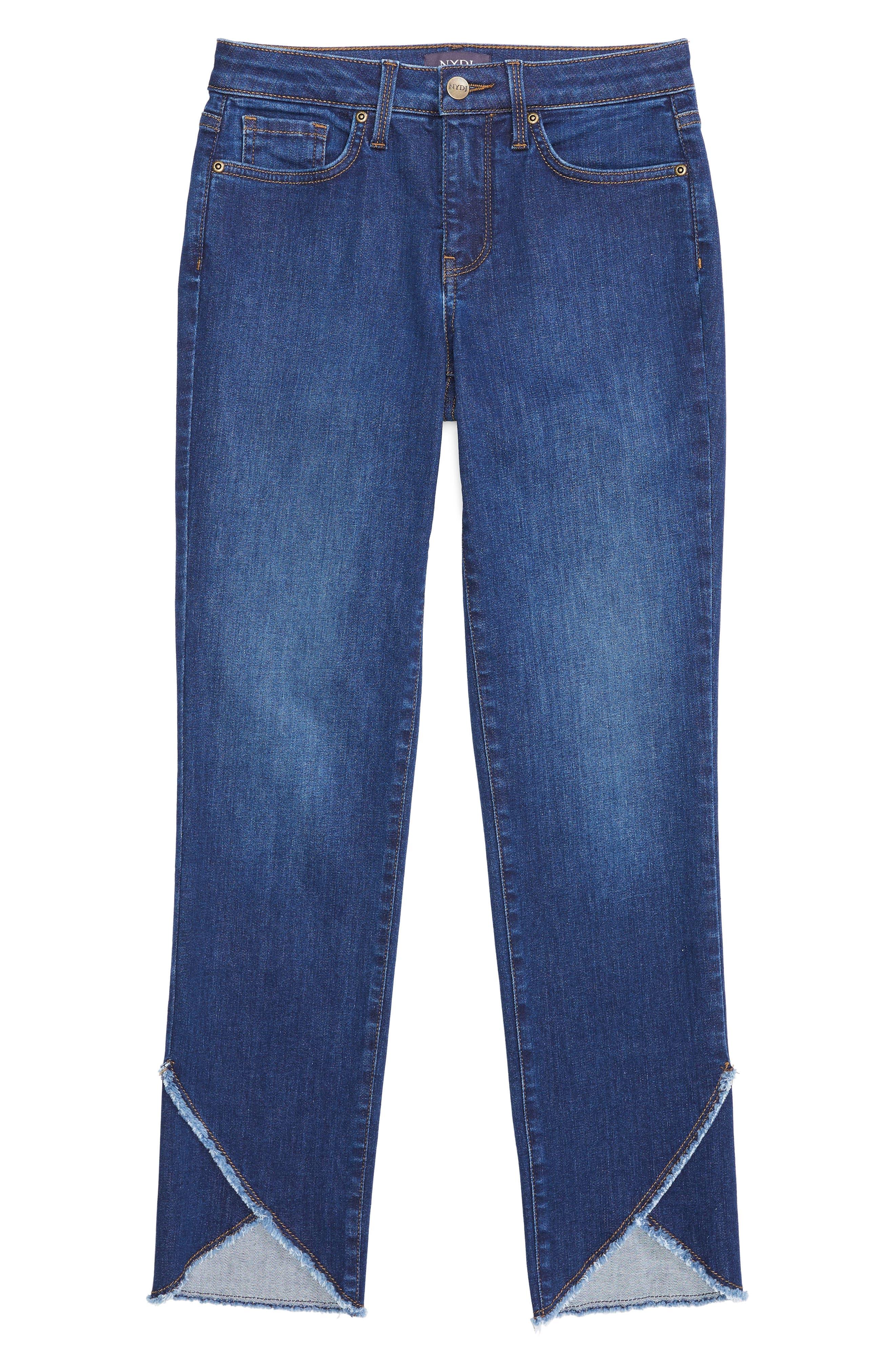 Sheri Envelope Hem Stretch Slim Ankle Jeans,                             Alternate thumbnail 5, color,                             COOPER