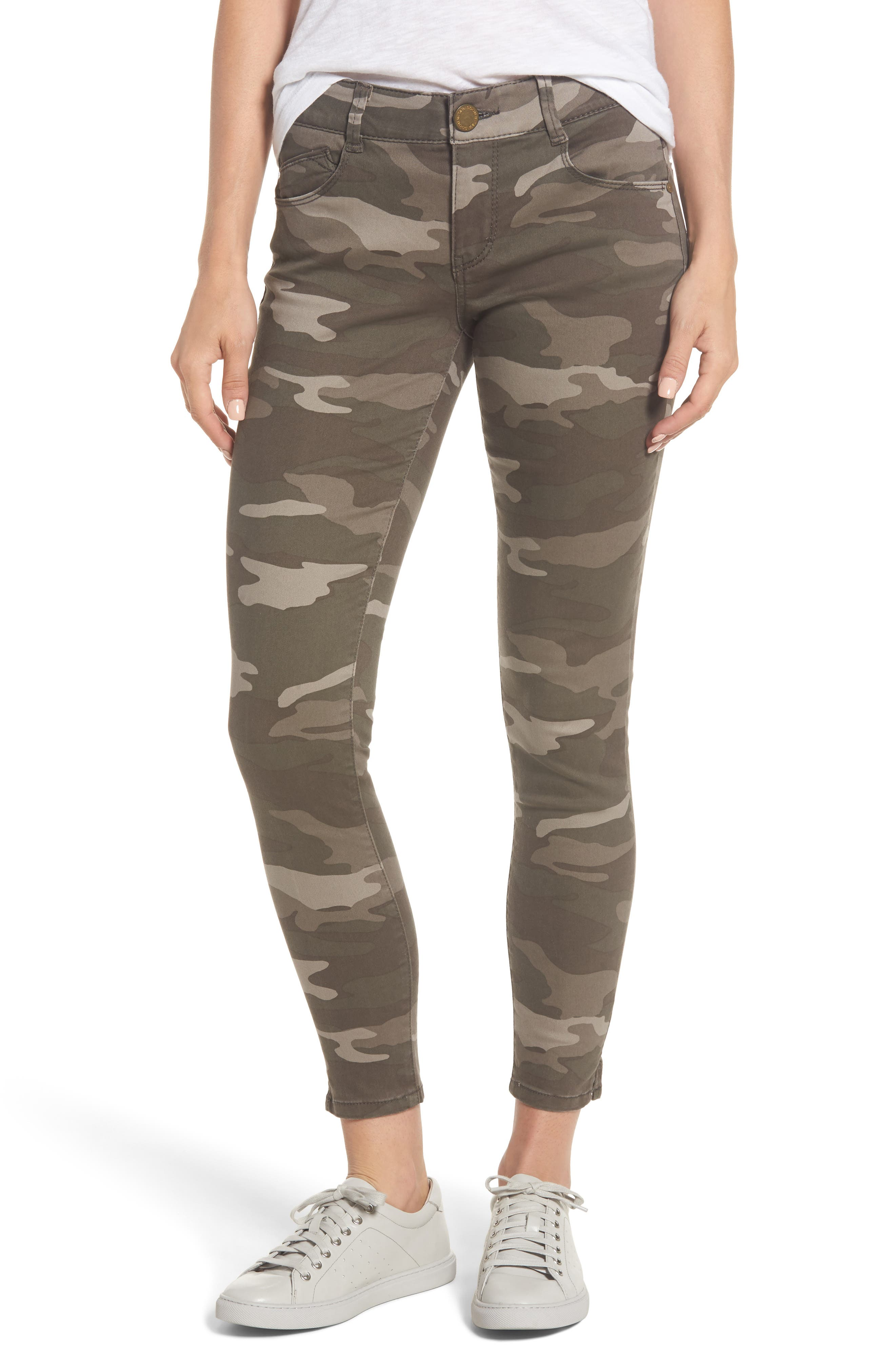 Ab-solution Camo Stretch Ankle Skinny Jeans,                             Main thumbnail 1, color,                             201