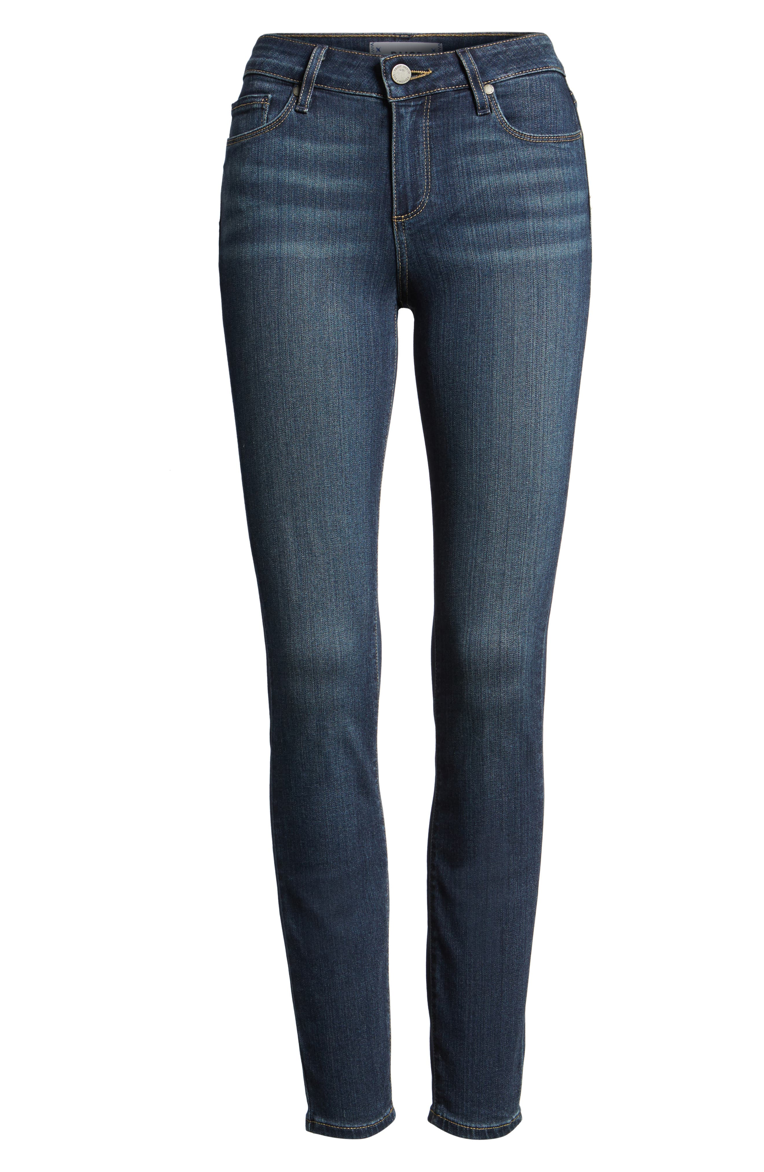 Transcend - Verdugo Ankle Skinny Jeans,                             Alternate thumbnail 8, color,                             NOTTINGHAM