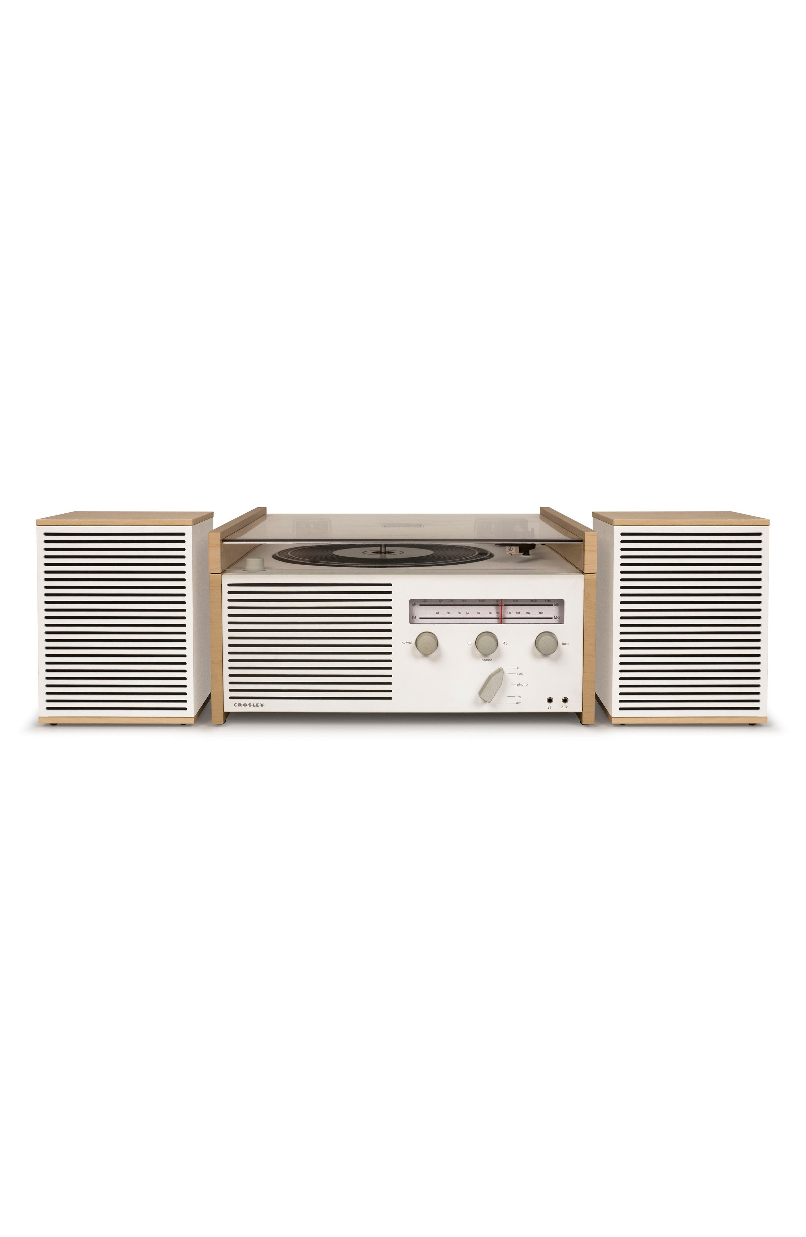 Switch II Turntable & Speakers Entertainment System,                             Alternate thumbnail 3, color,                             NATURAL