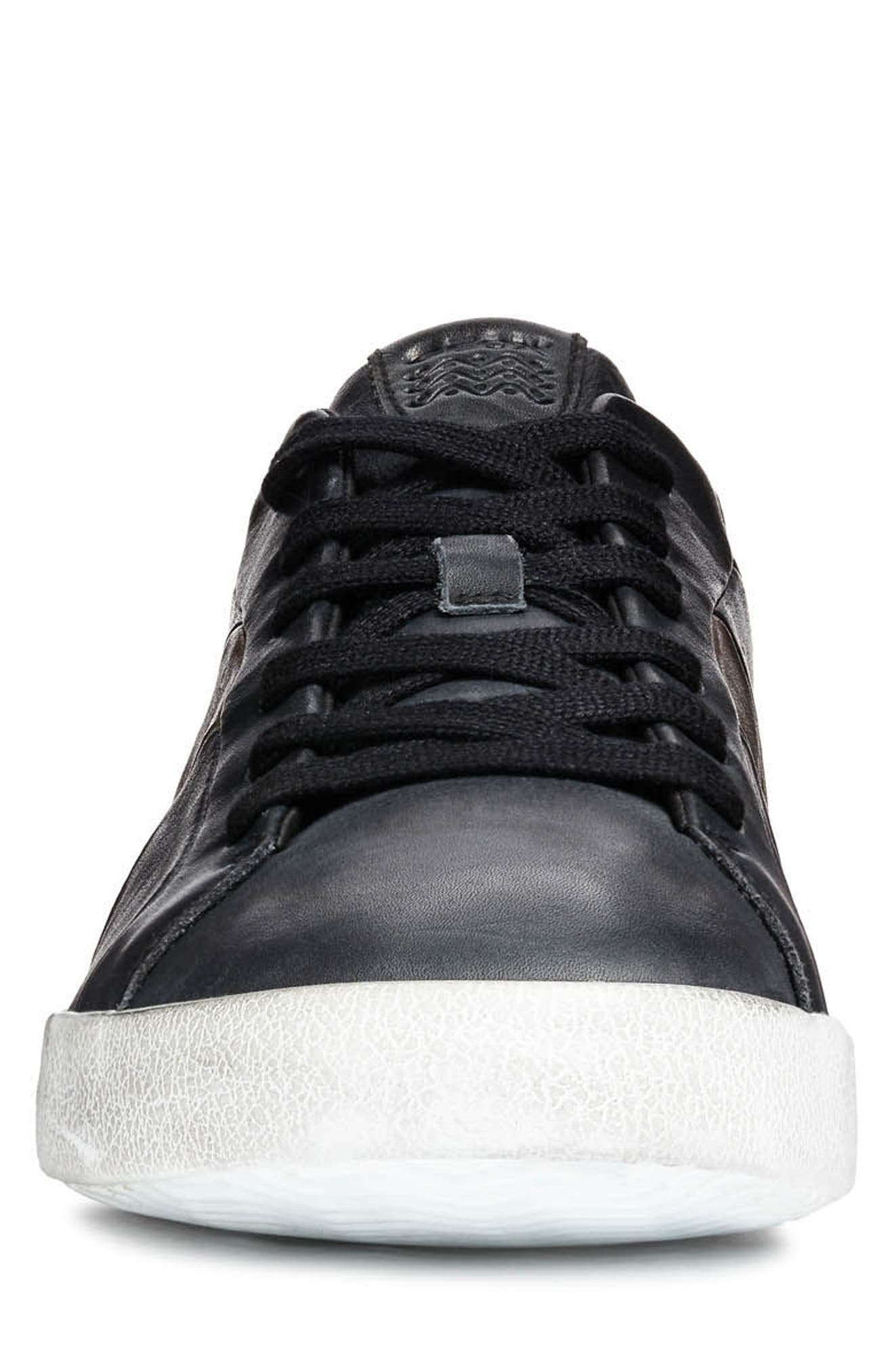 Smart 85 Low Top Sneaker,                             Alternate thumbnail 4, color,                             BLACK/ COFFEE LEATHER