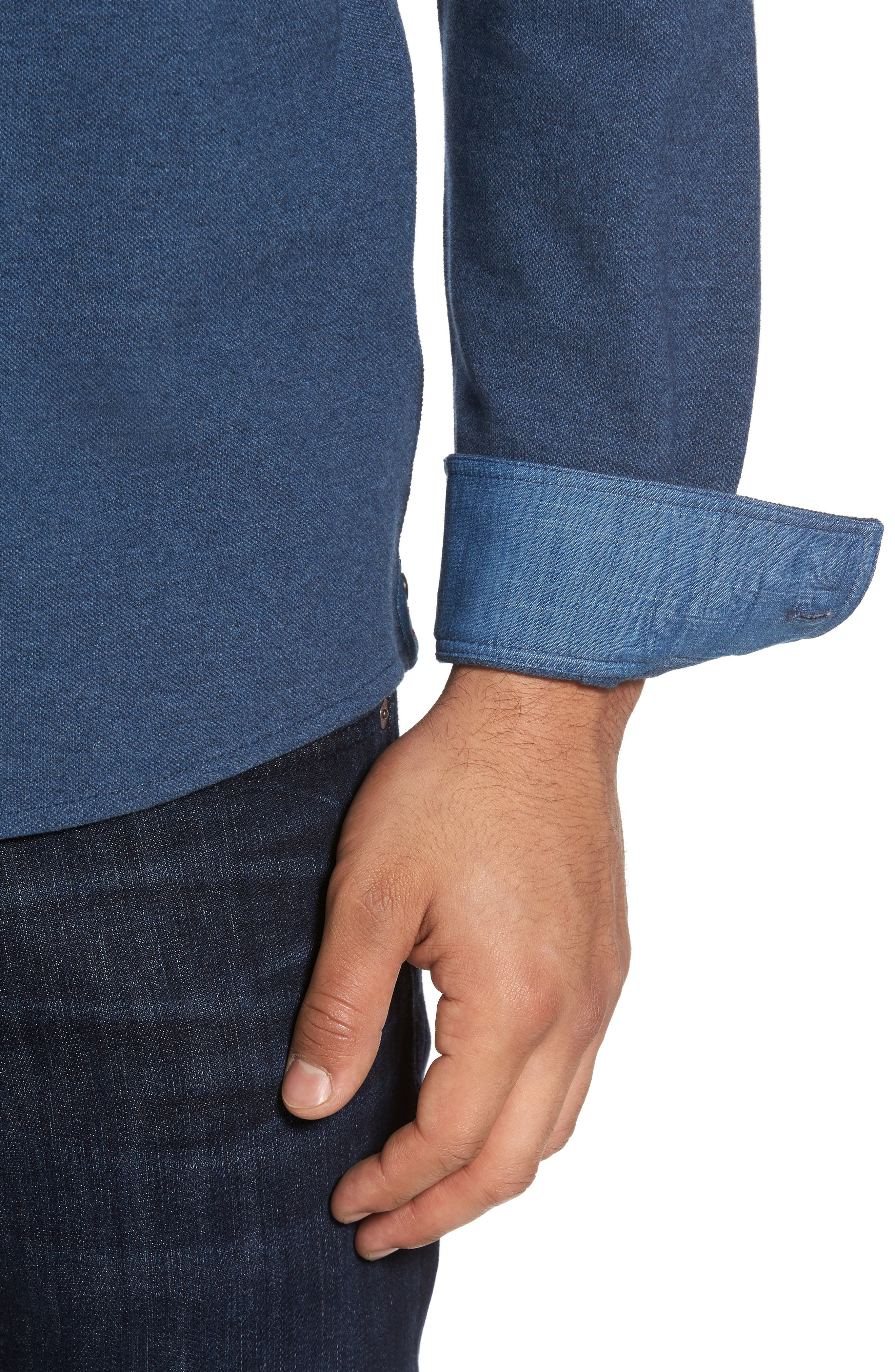 Shandy Heathered Knit Sport Shirt,                             Alternate thumbnail 8, color,