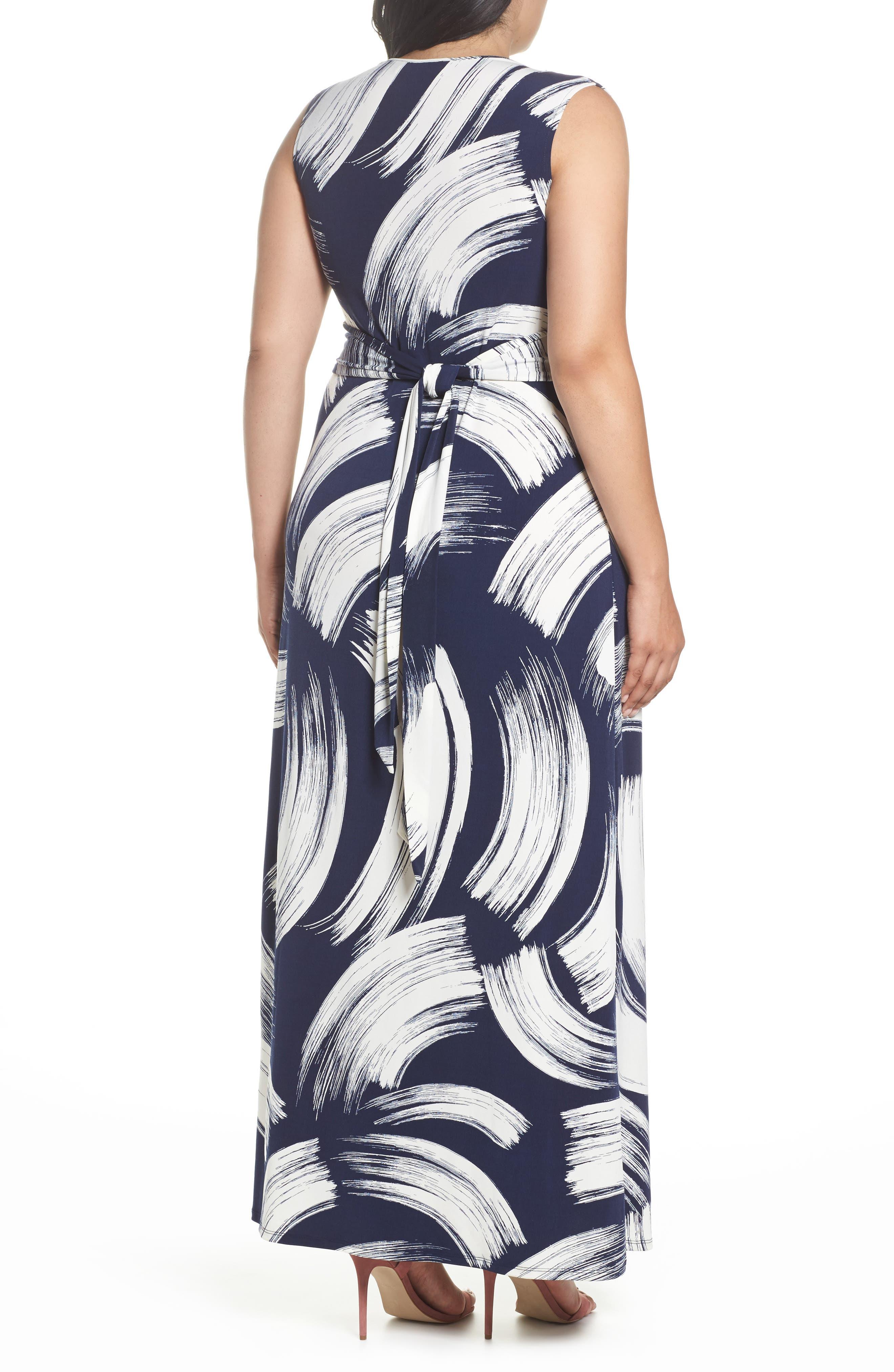 Brush Print Jersey Maxi Dress,                             Alternate thumbnail 2, color,                             407