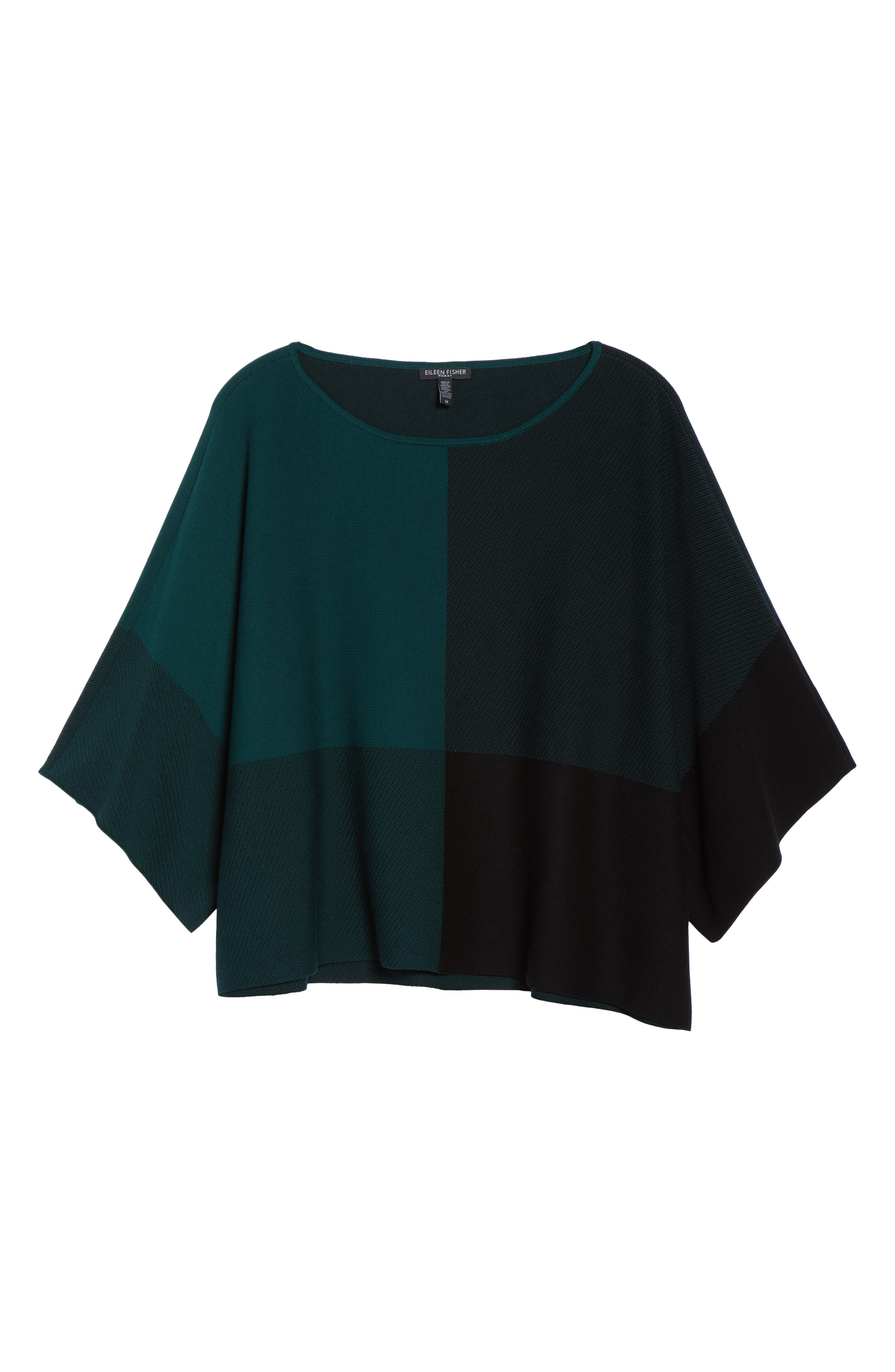 Colorblock Tencel<sup>®</sup> Lyocell Sweater,                             Alternate thumbnail 6, color,                             PINE