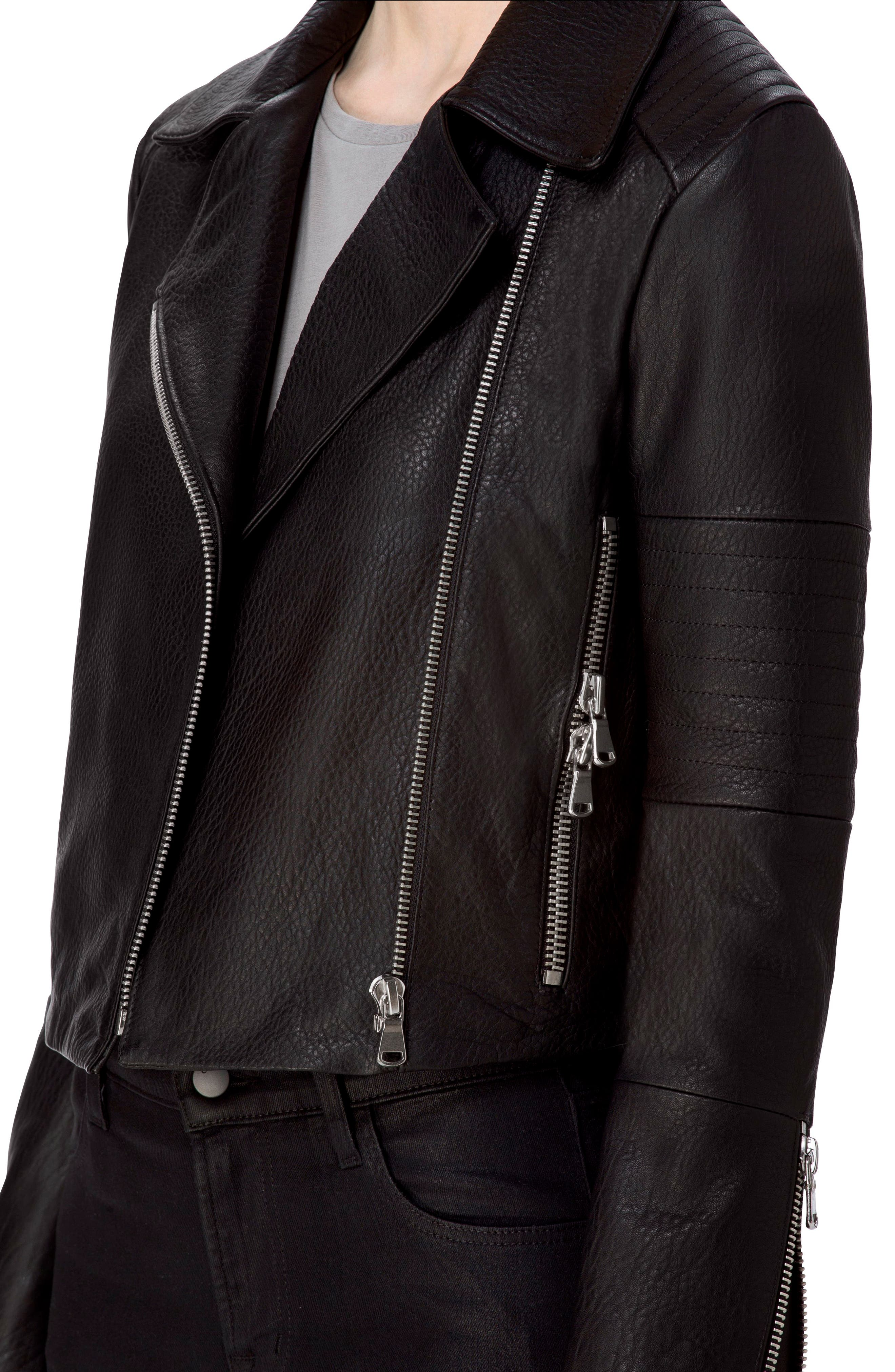 Aiah Leather Moto Jacket,                             Alternate thumbnail 10, color,