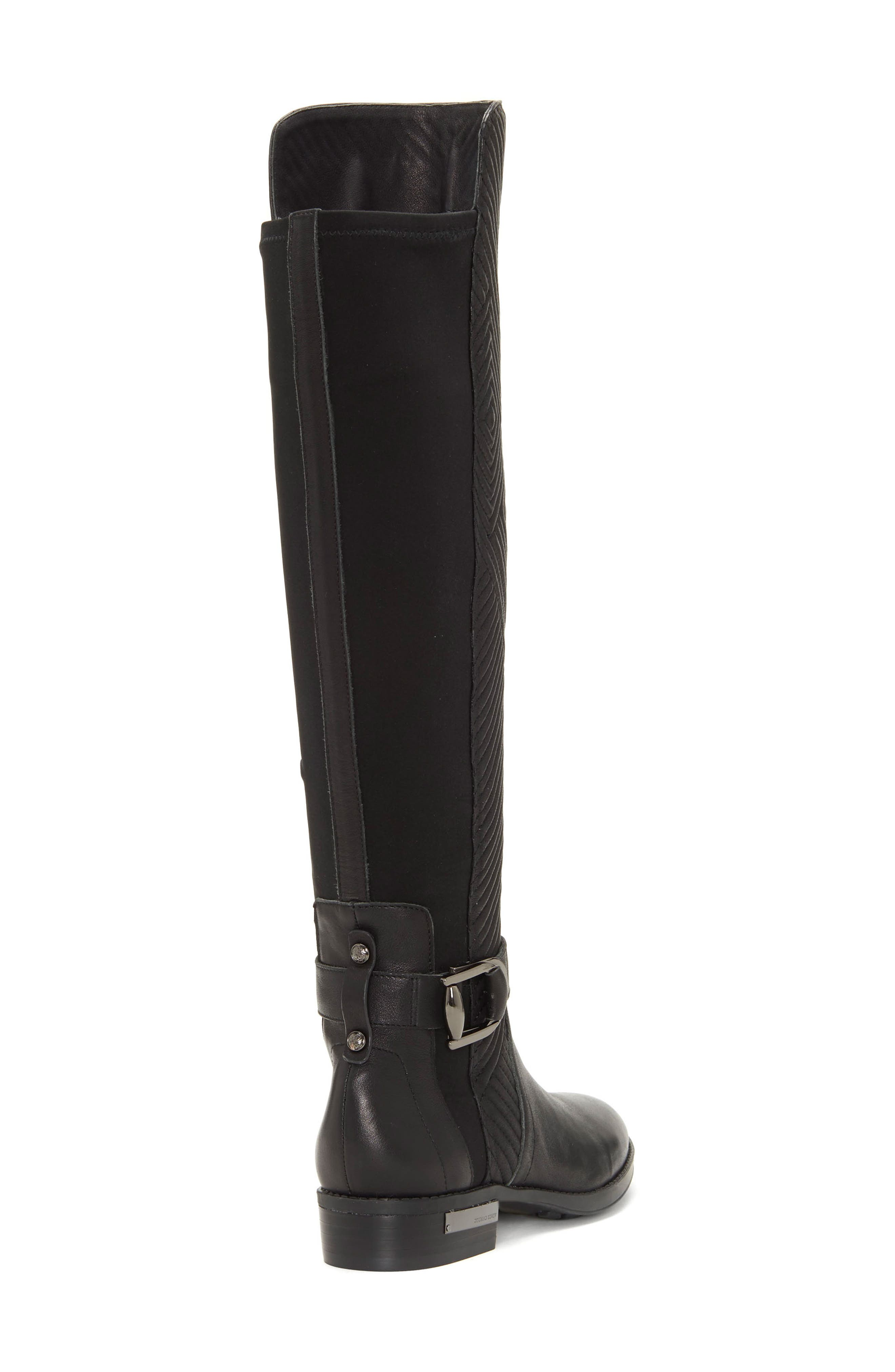 Pordalia Over-the-Knee Boot,                             Alternate thumbnail 9, color,                             BLACK LEATHER