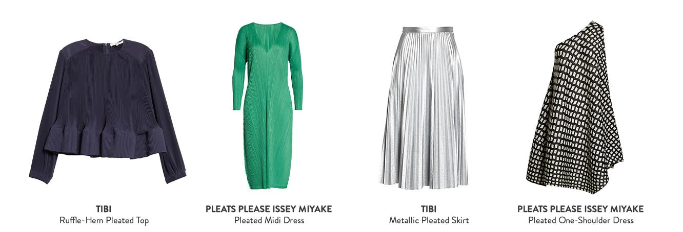 Get ahead at London Fashion Week with pleats.