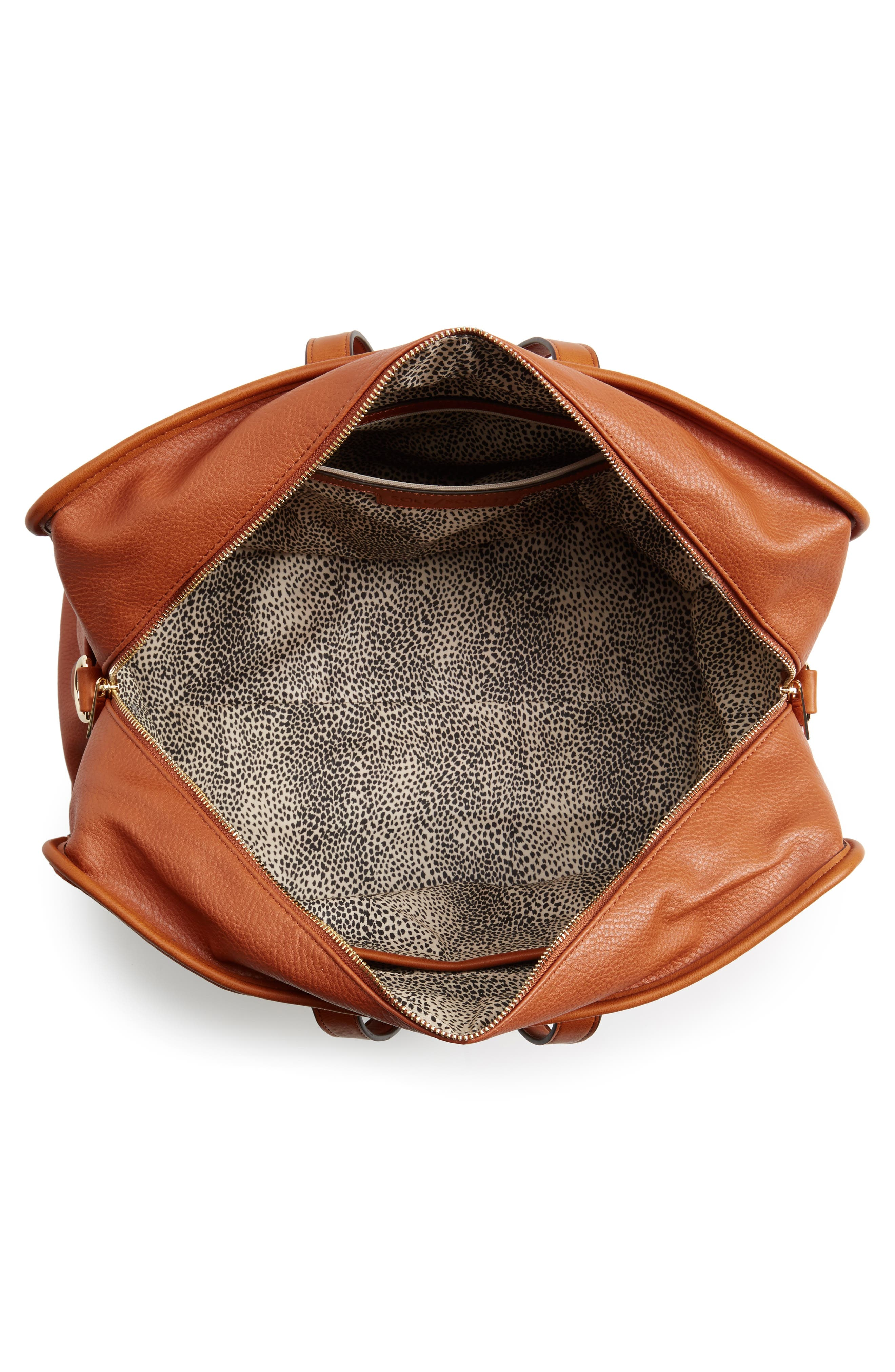 Doxin Faux Leather Duffel Bag,                             Alternate thumbnail 8, color,