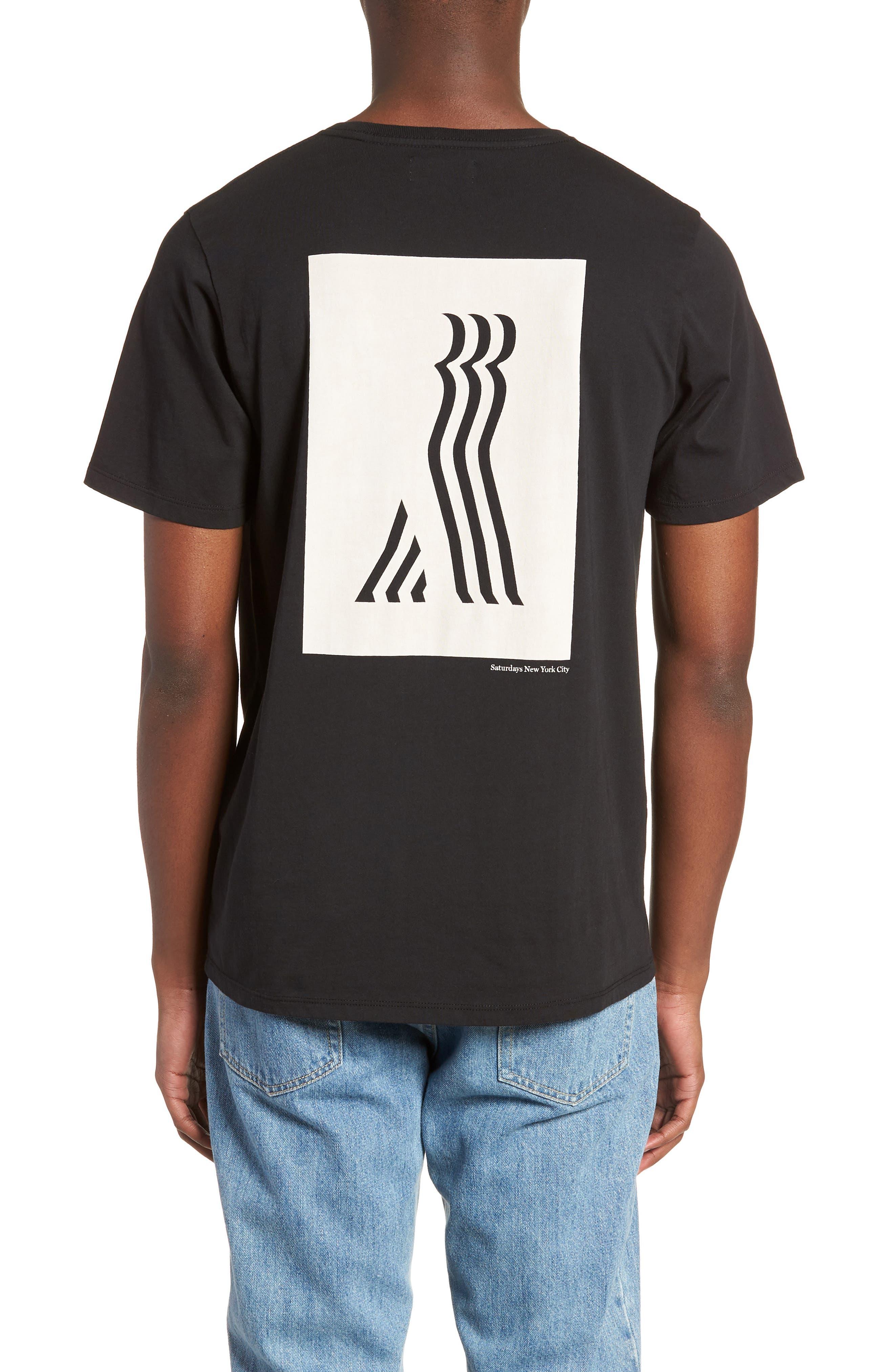 Walking Man T-Shirt,                             Alternate thumbnail 2, color,                             BLACK