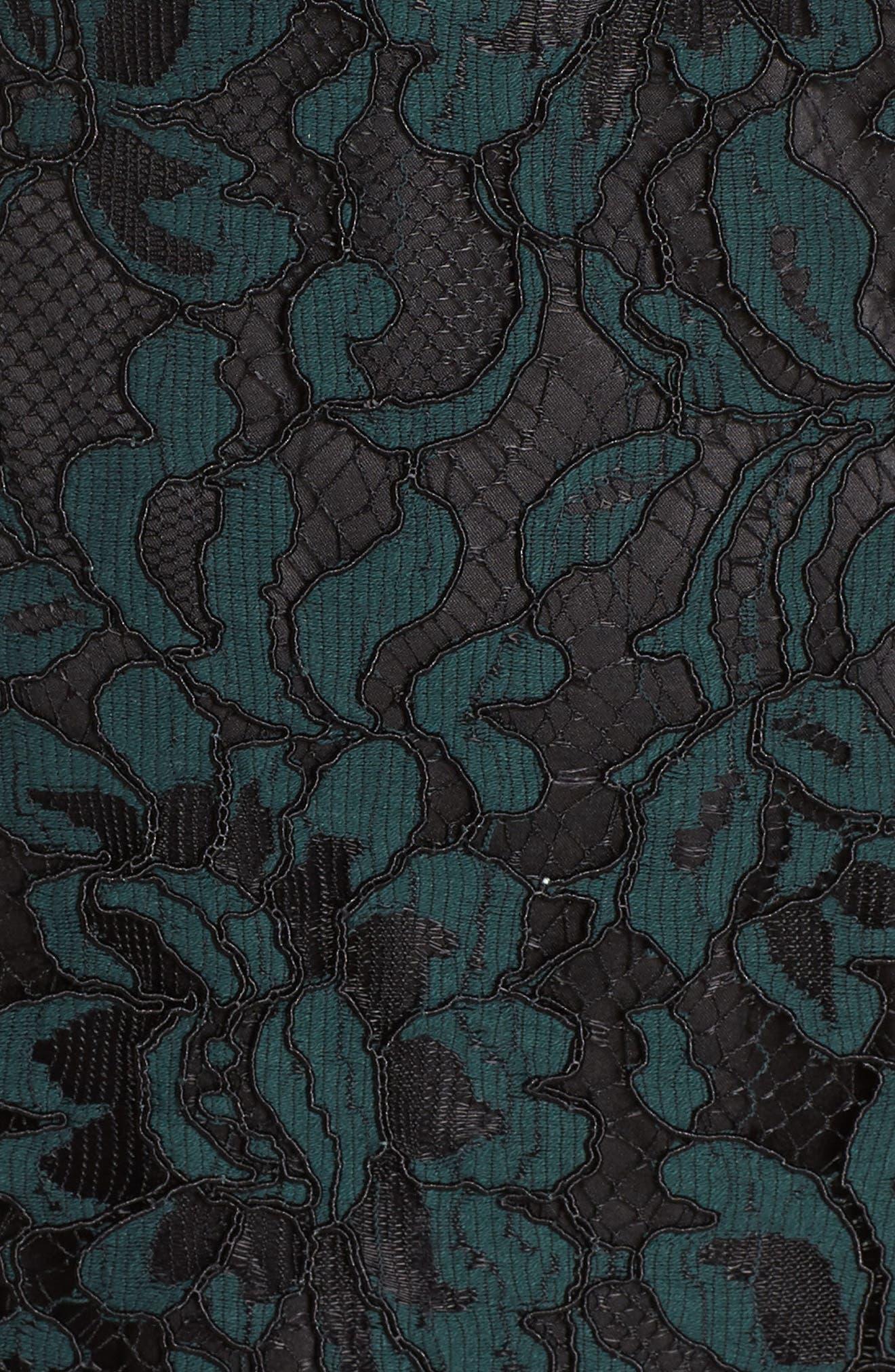 ELIZA J,                             High Neck Lace Sheath Dress,                             Alternate thumbnail 6, color,                             GREEN