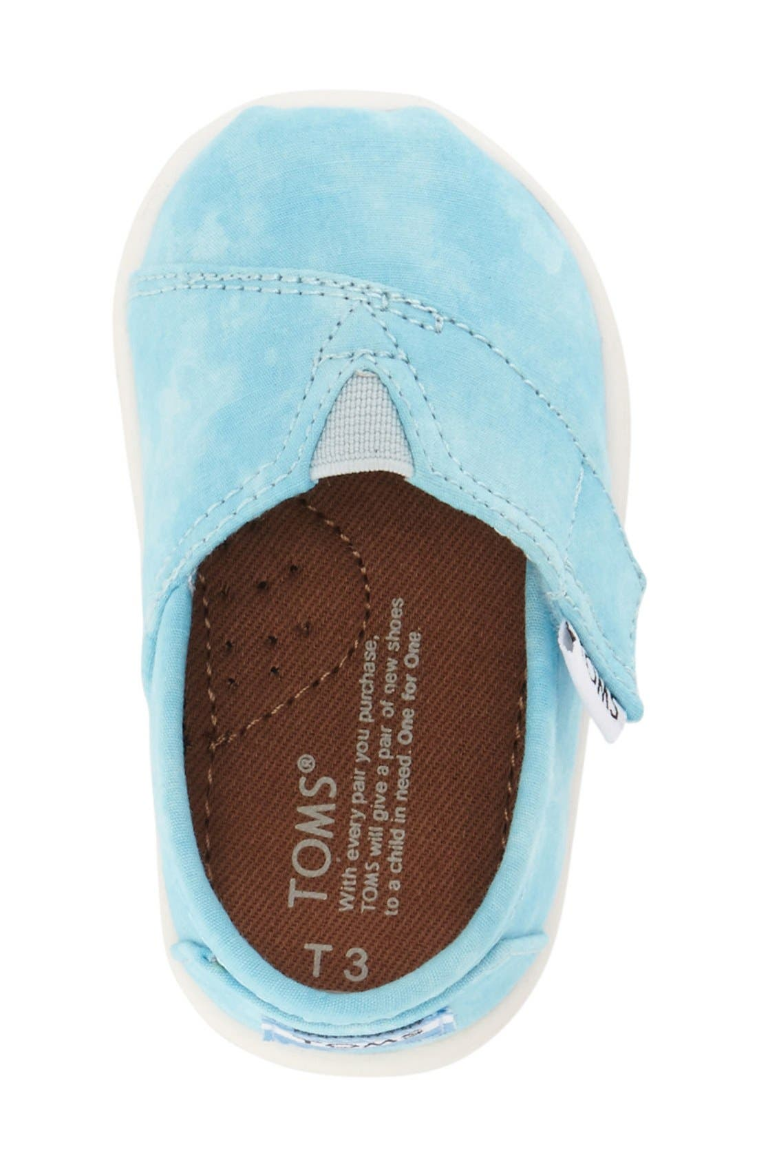'Classic - Tiny' Print Slip-On,                             Alternate thumbnail 4, color,                             AQUA