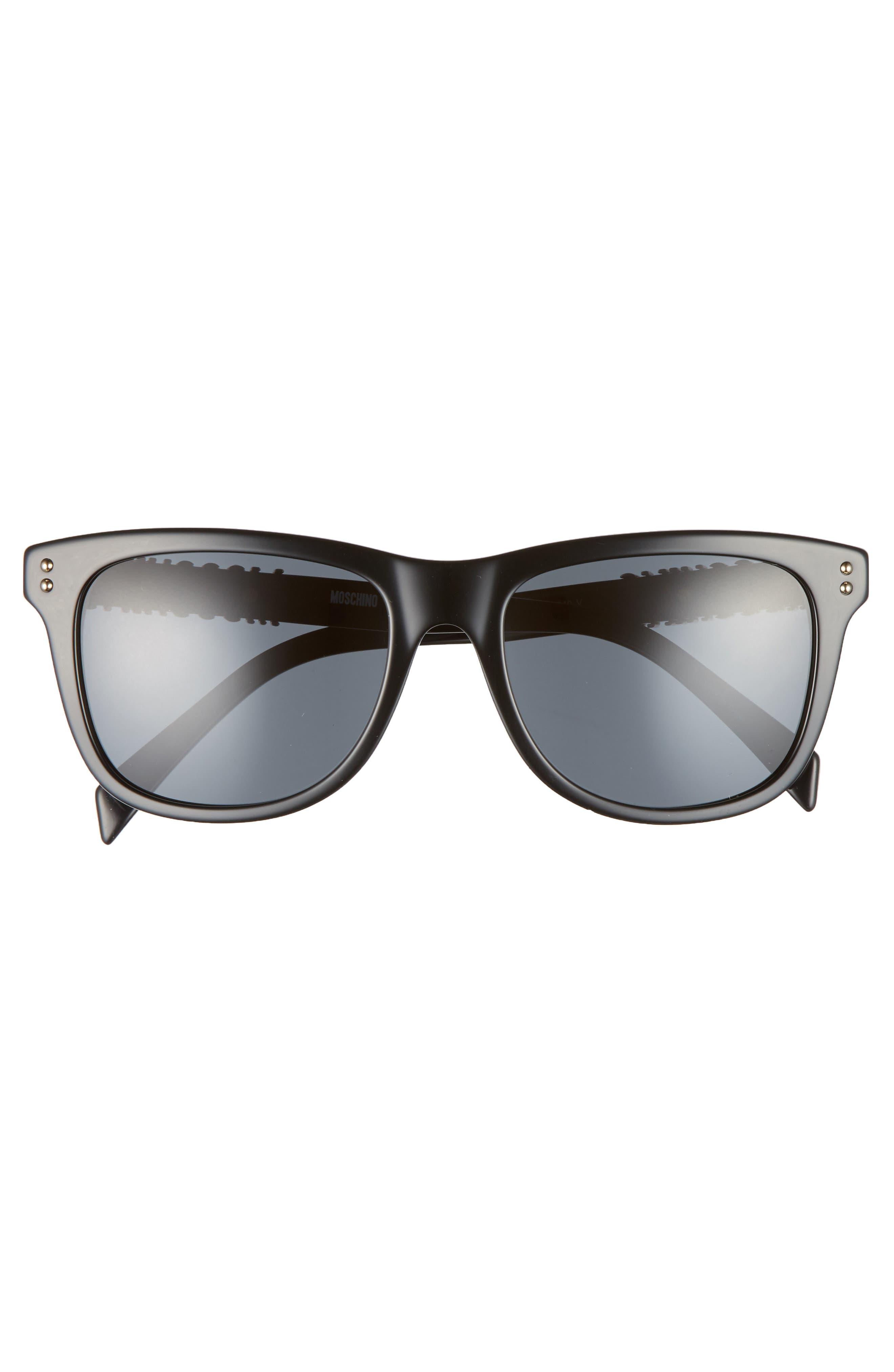 Basic 53mm Polarized Sunglasses,                             Alternate thumbnail 3, color,                             BLACK