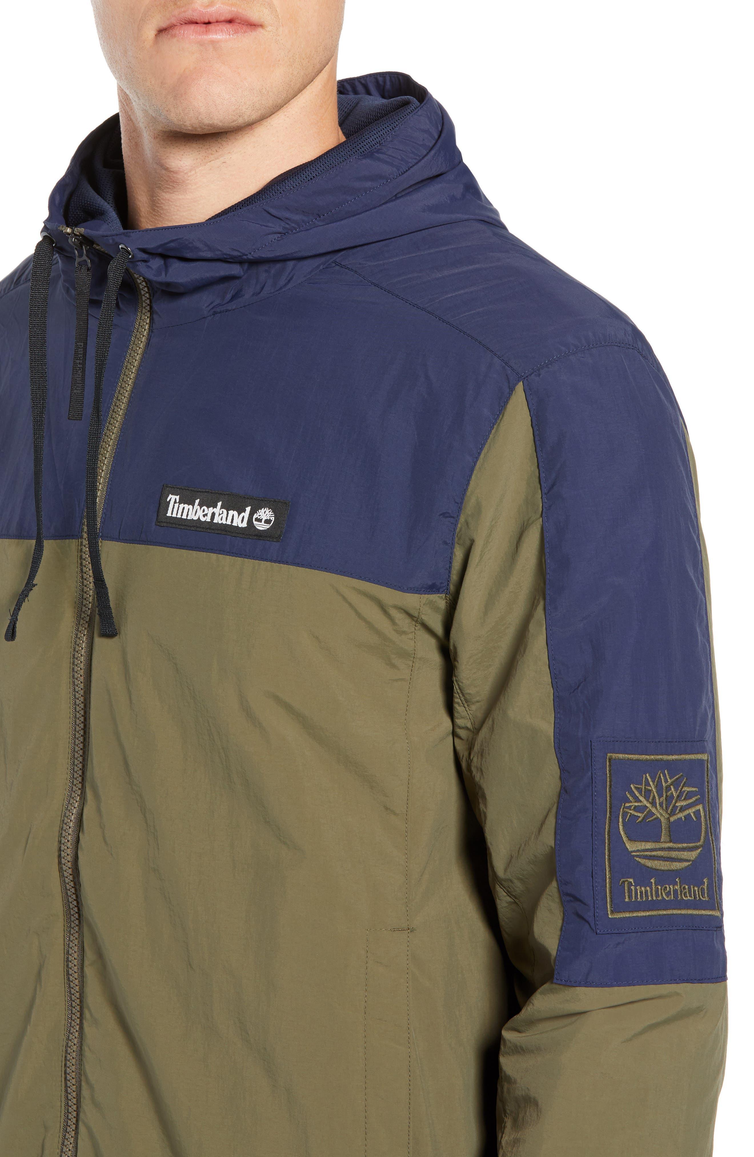 Windbreaker Hooded Jacket,                             Alternate thumbnail 4, color,                             GRAPE LEAF/ BLACK IRIS