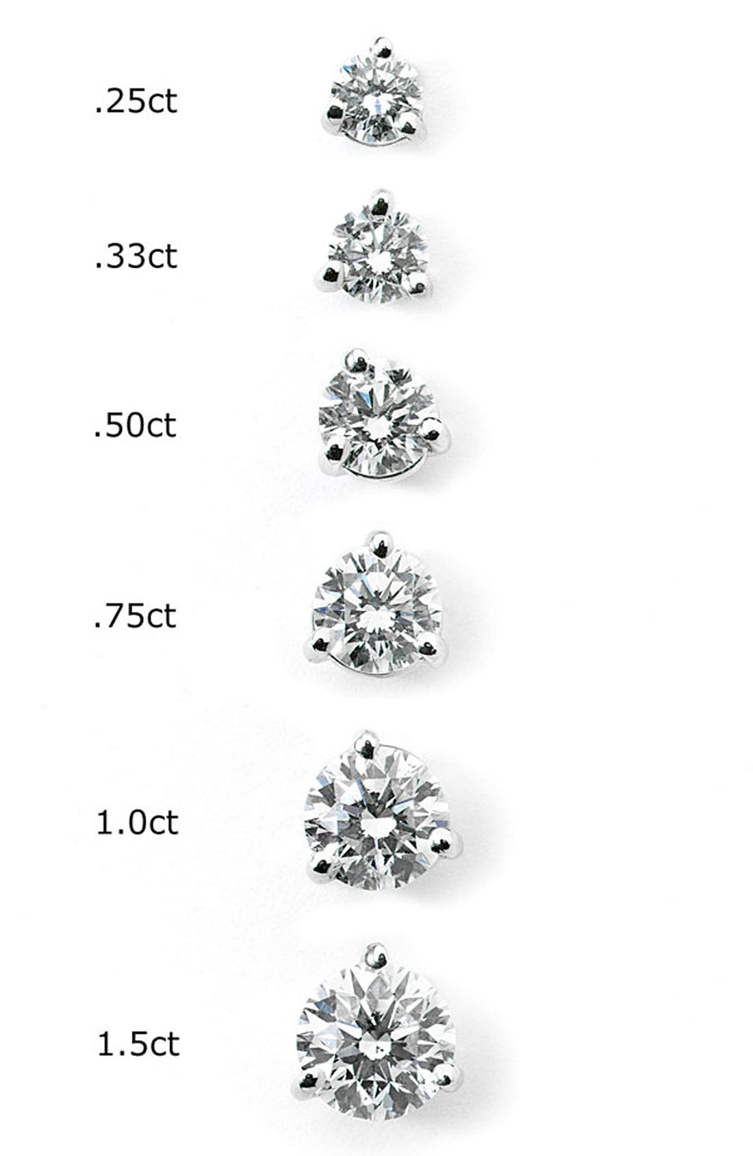 0.50ct tw Diamond & Platinum Stud Earrings,                             Alternate thumbnail 2, color,                             PLATINUM