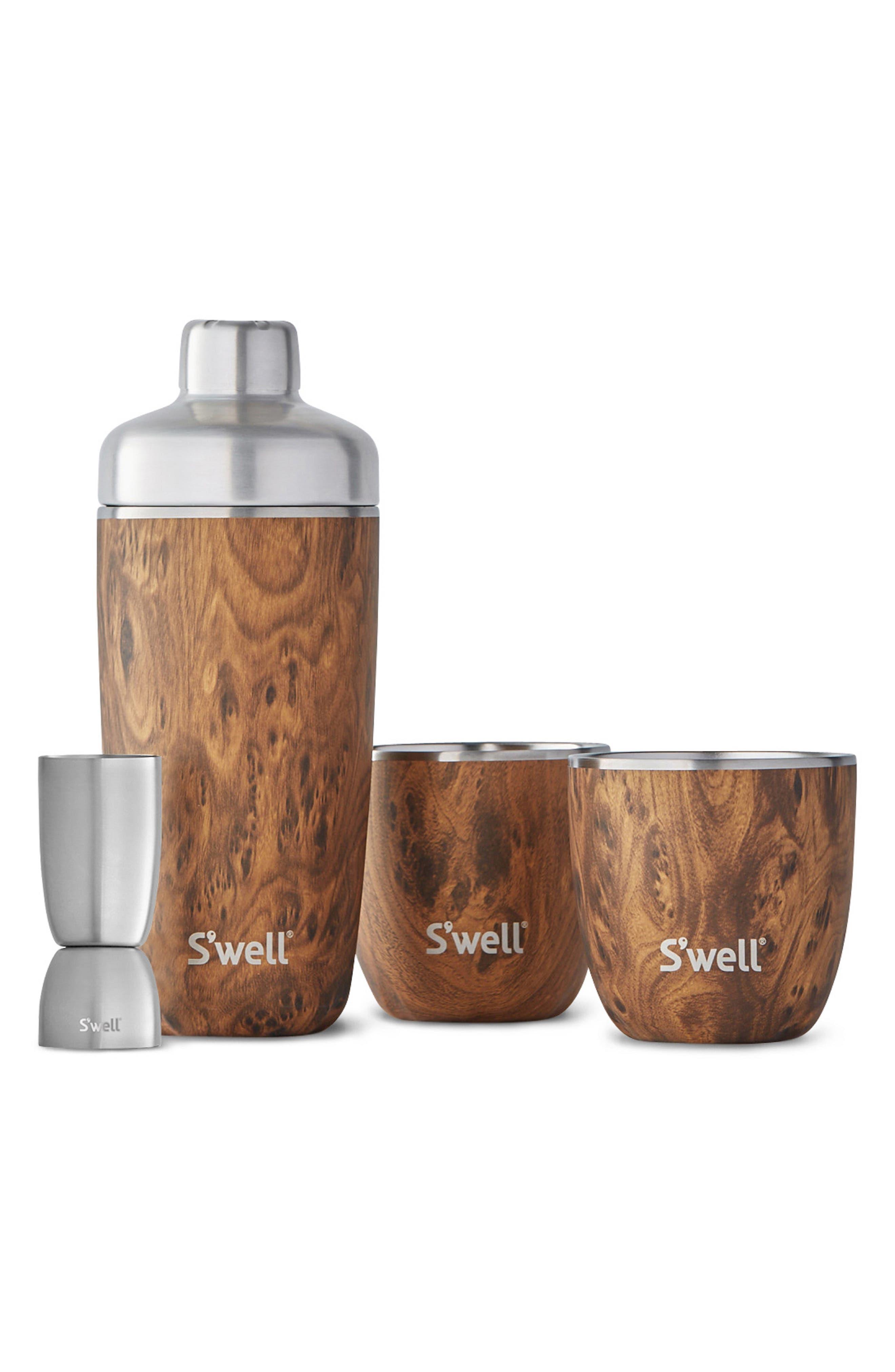 Barware Set,                         Main,                         color, TEAKWOOD