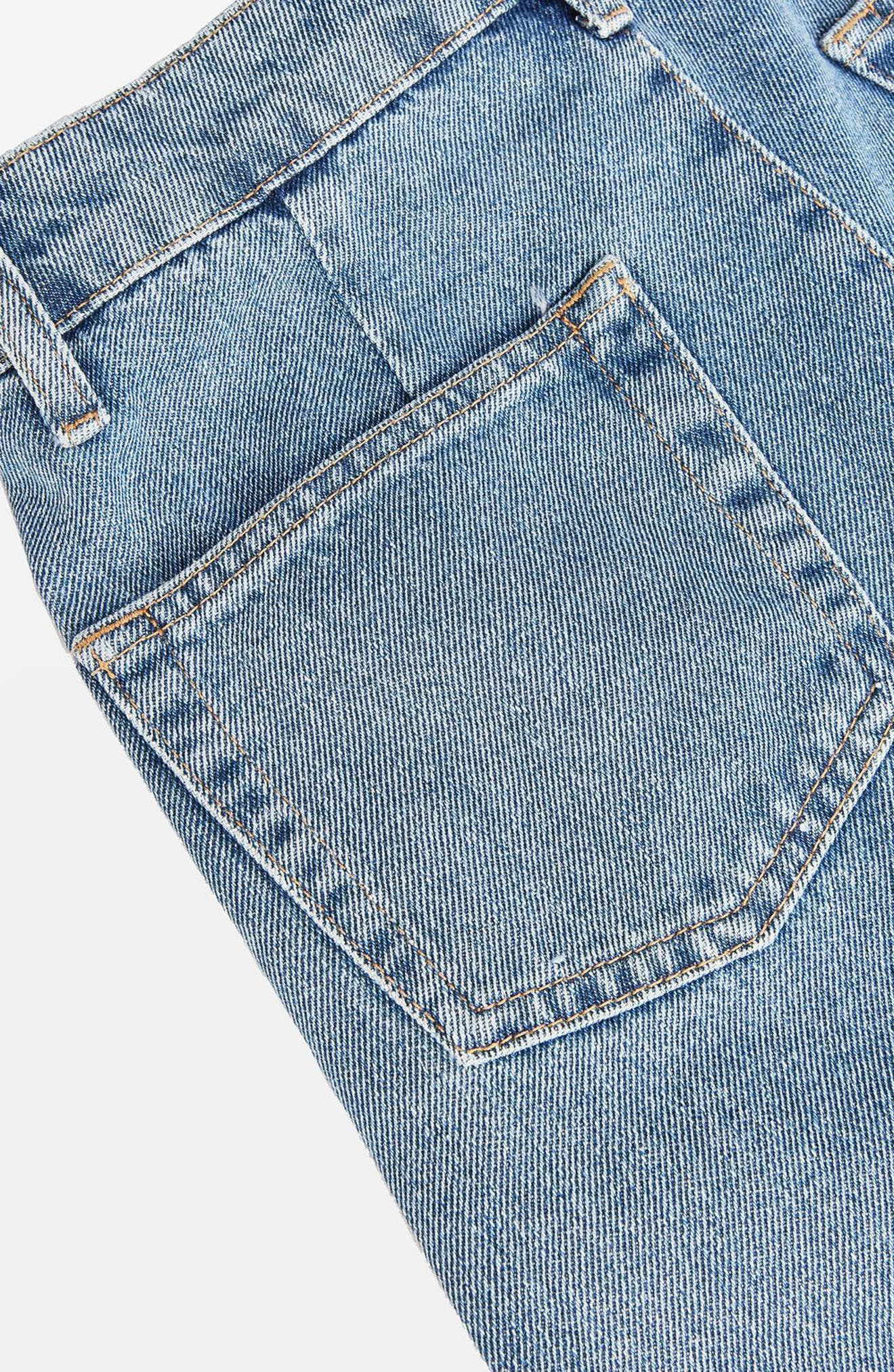 Displaced Seam Boyfriend Jeans,                             Alternate thumbnail 5, color,                             400