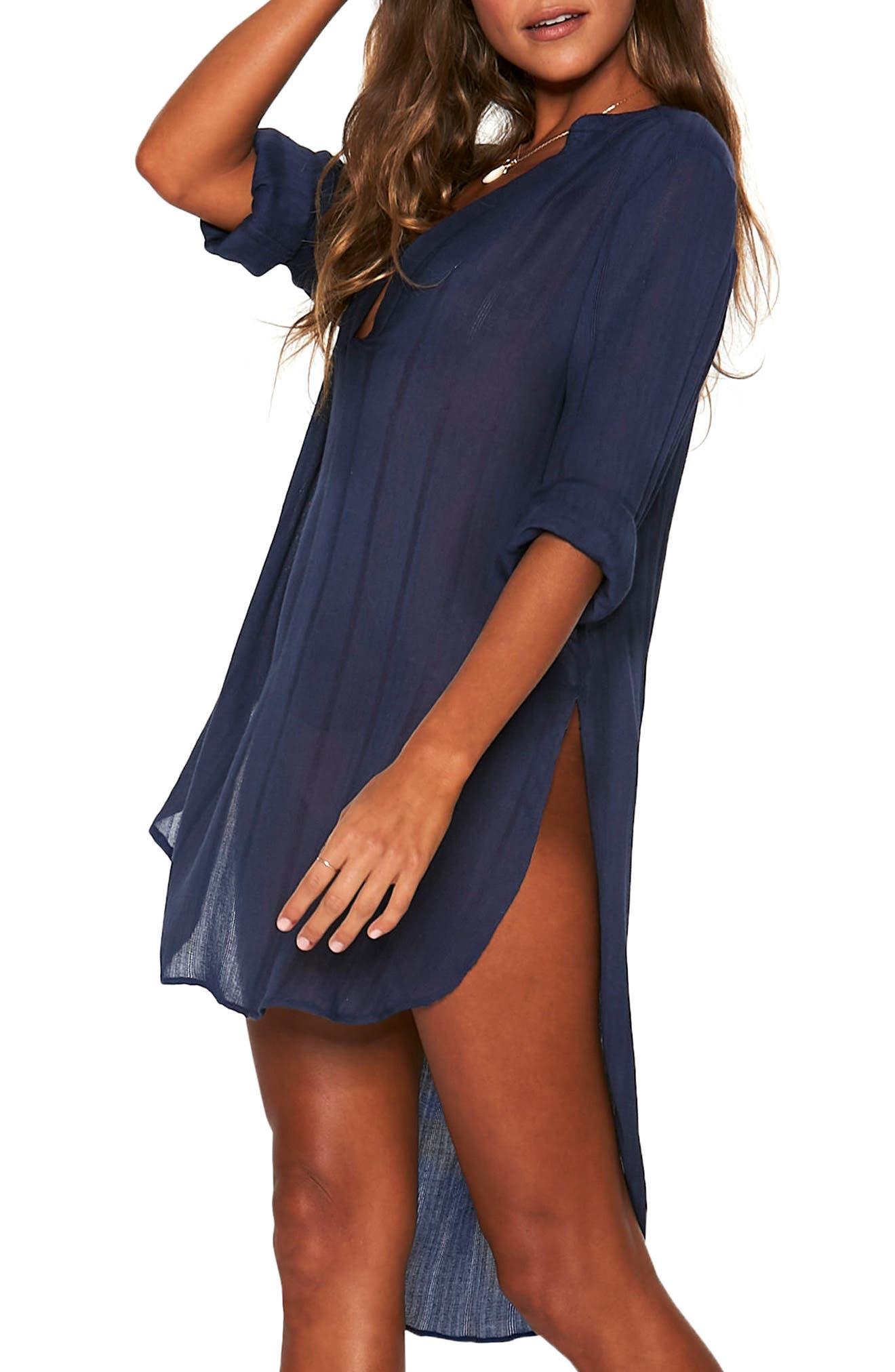 Megan Cover-Up Tunic,                             Main thumbnail 1, color,                             MIDNIGHT BLUE