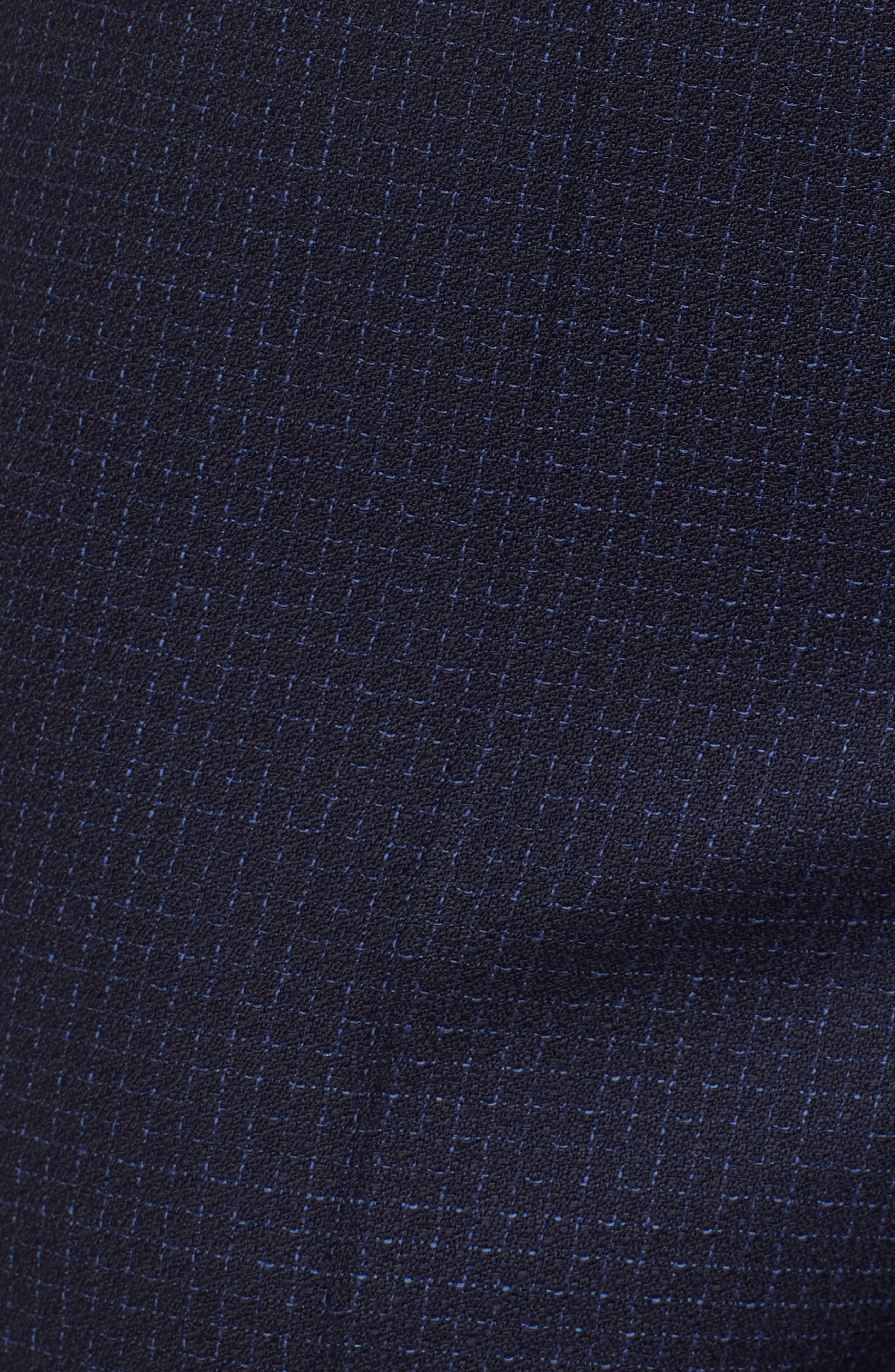 Tiluna Windowpane Slim Leg Trousers,                             Alternate thumbnail 5, color,