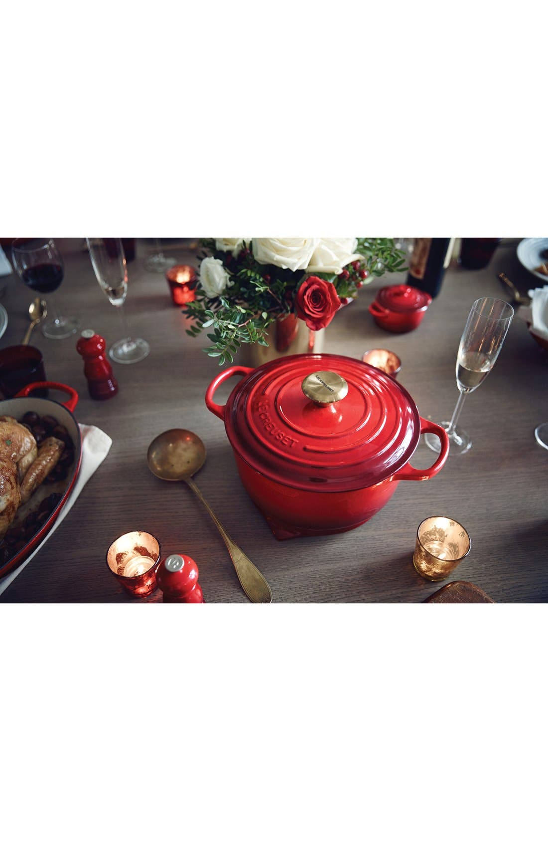 Gold Knob Collection 4 1/2 Quart Round French/Dutch Oven,                             Alternate thumbnail 3, color,                             600