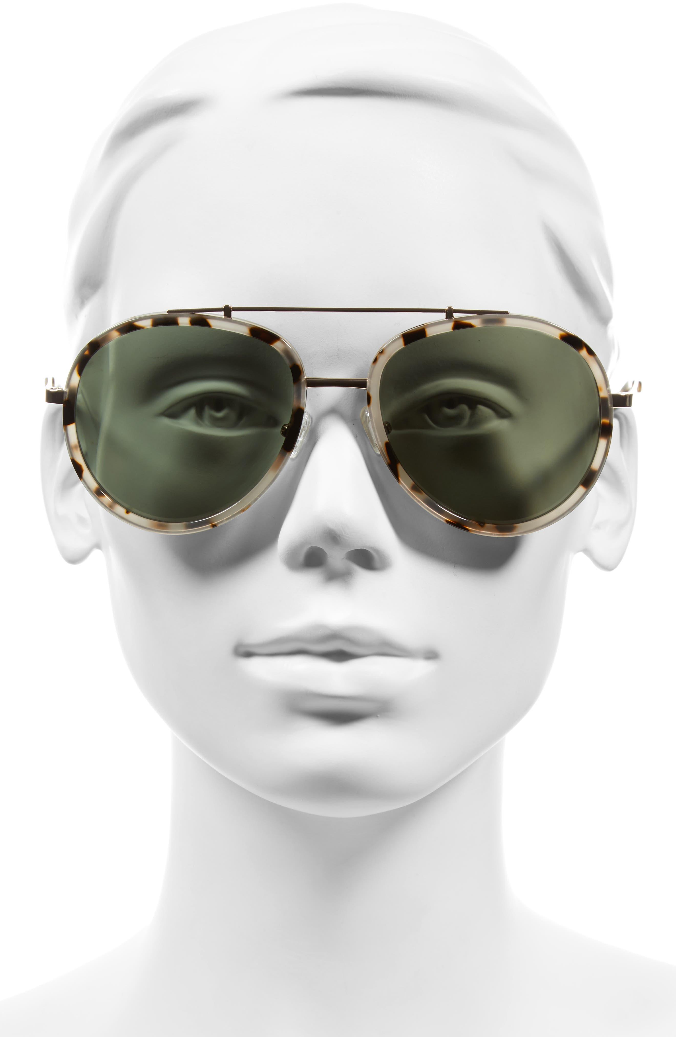 Jules 58mm Aviator Sunglasses,                             Alternate thumbnail 5, color,