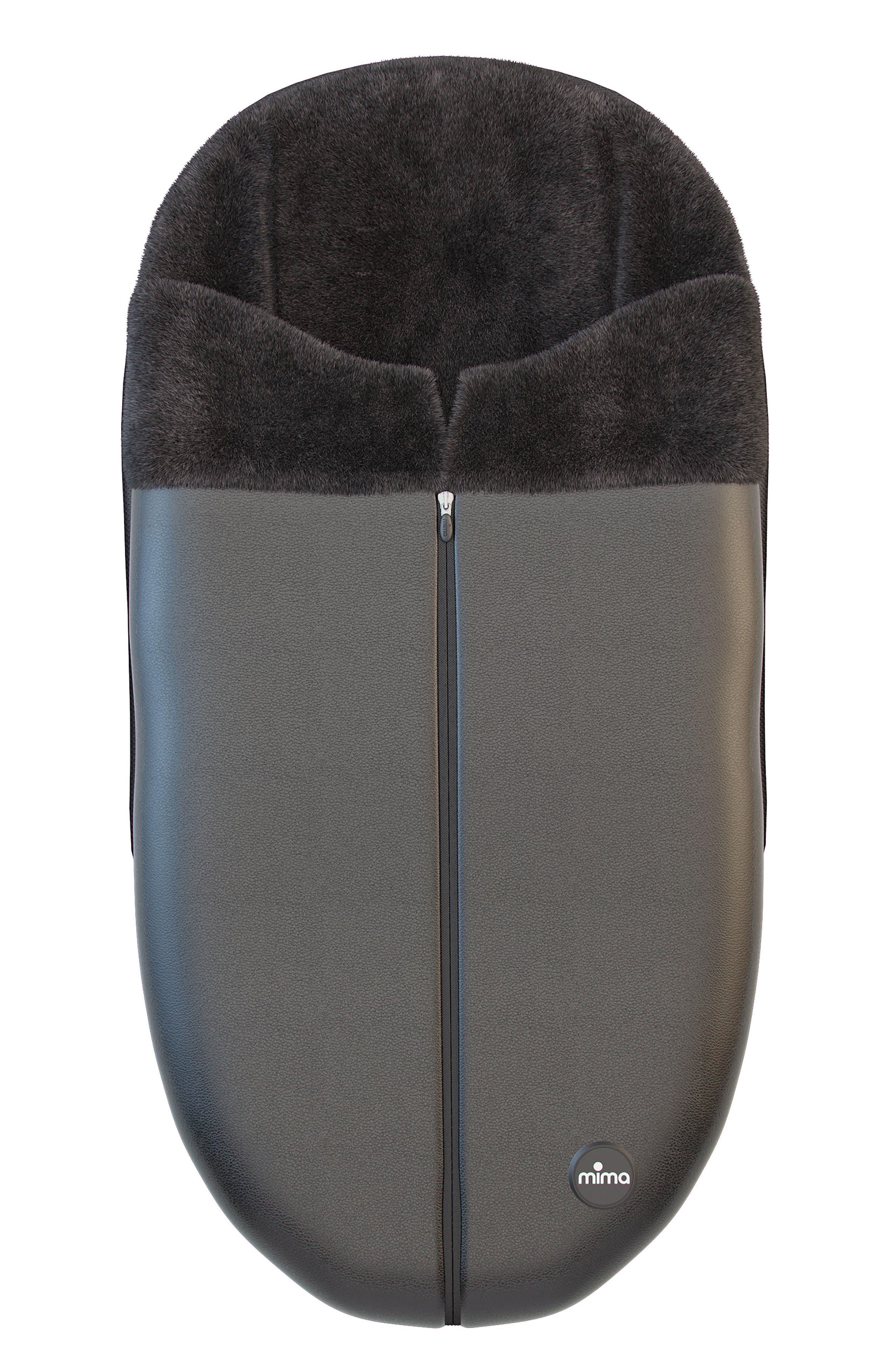 Faux Leather Footmuff for Mima Xari Stroller,                             Main thumbnail 1, color,                             BLACK