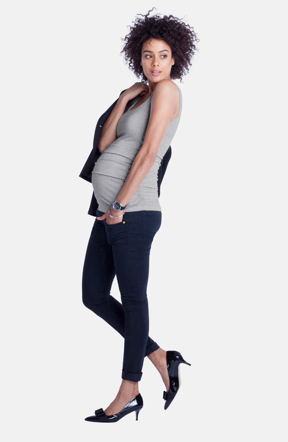 'Zadie' Stretch Maternity Skinny Jeans,                             Alternate thumbnail 2, color,                             INDIGO