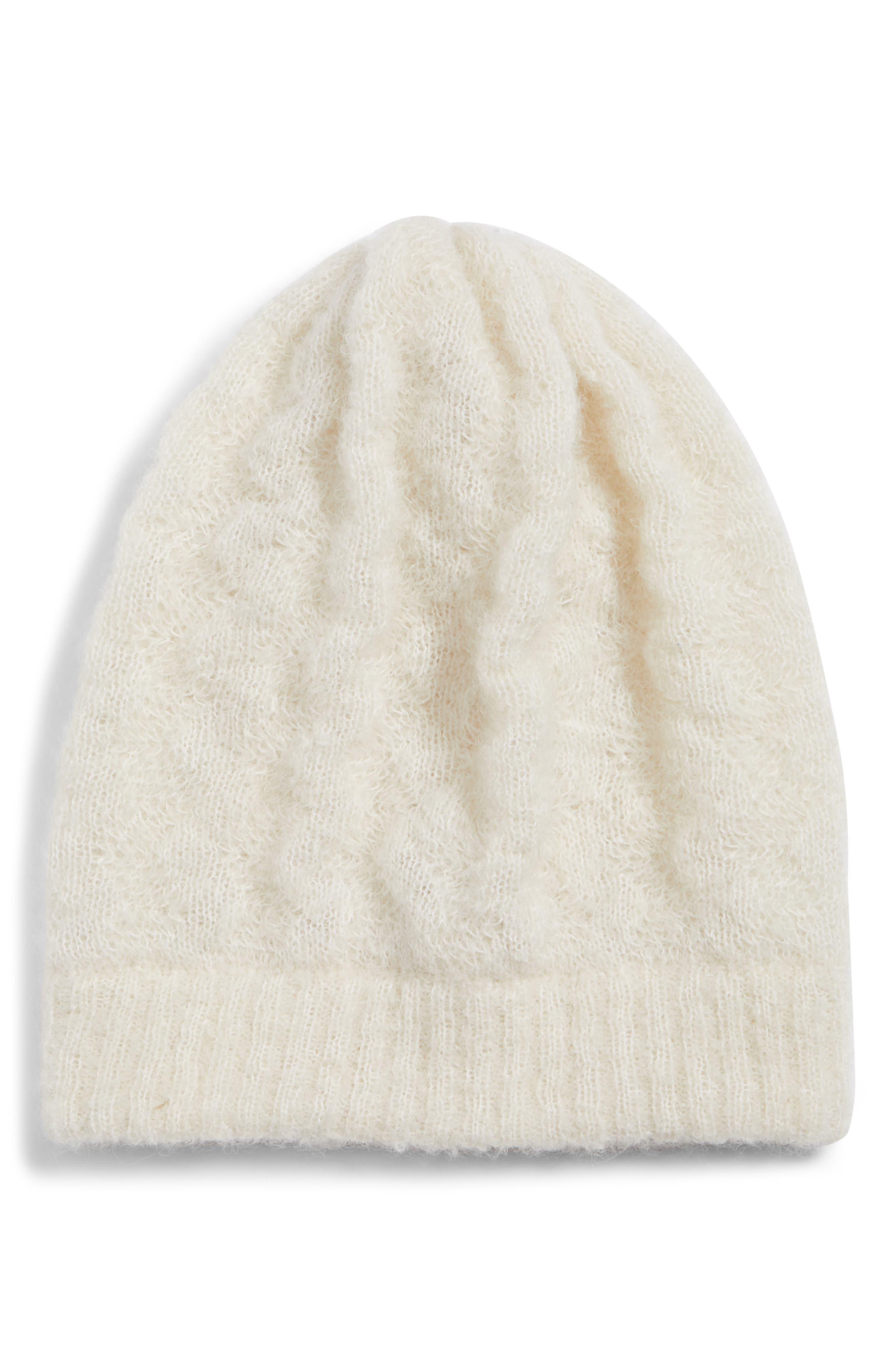 Alpaca Knit Hat, Main, color, IVORY