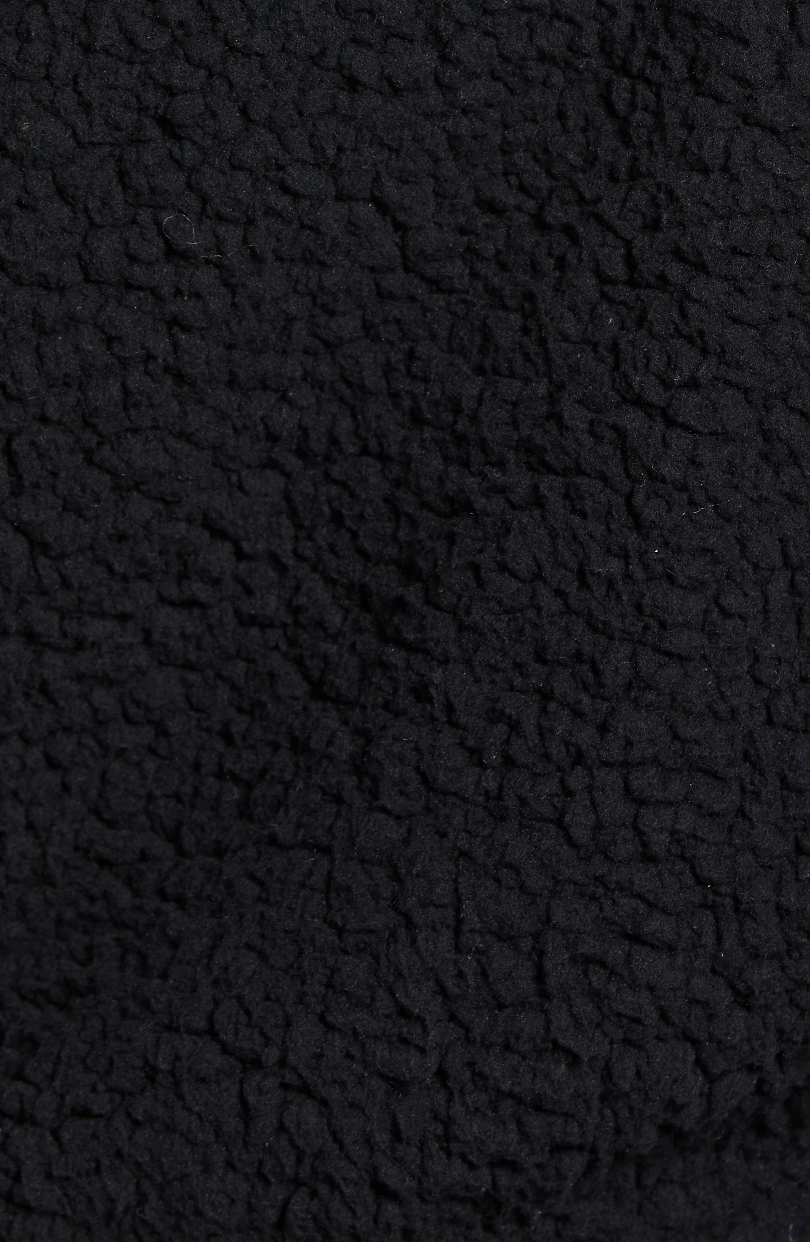 Anaelisa Fleece Bomber Jacket,                             Alternate thumbnail 7, color,                             001