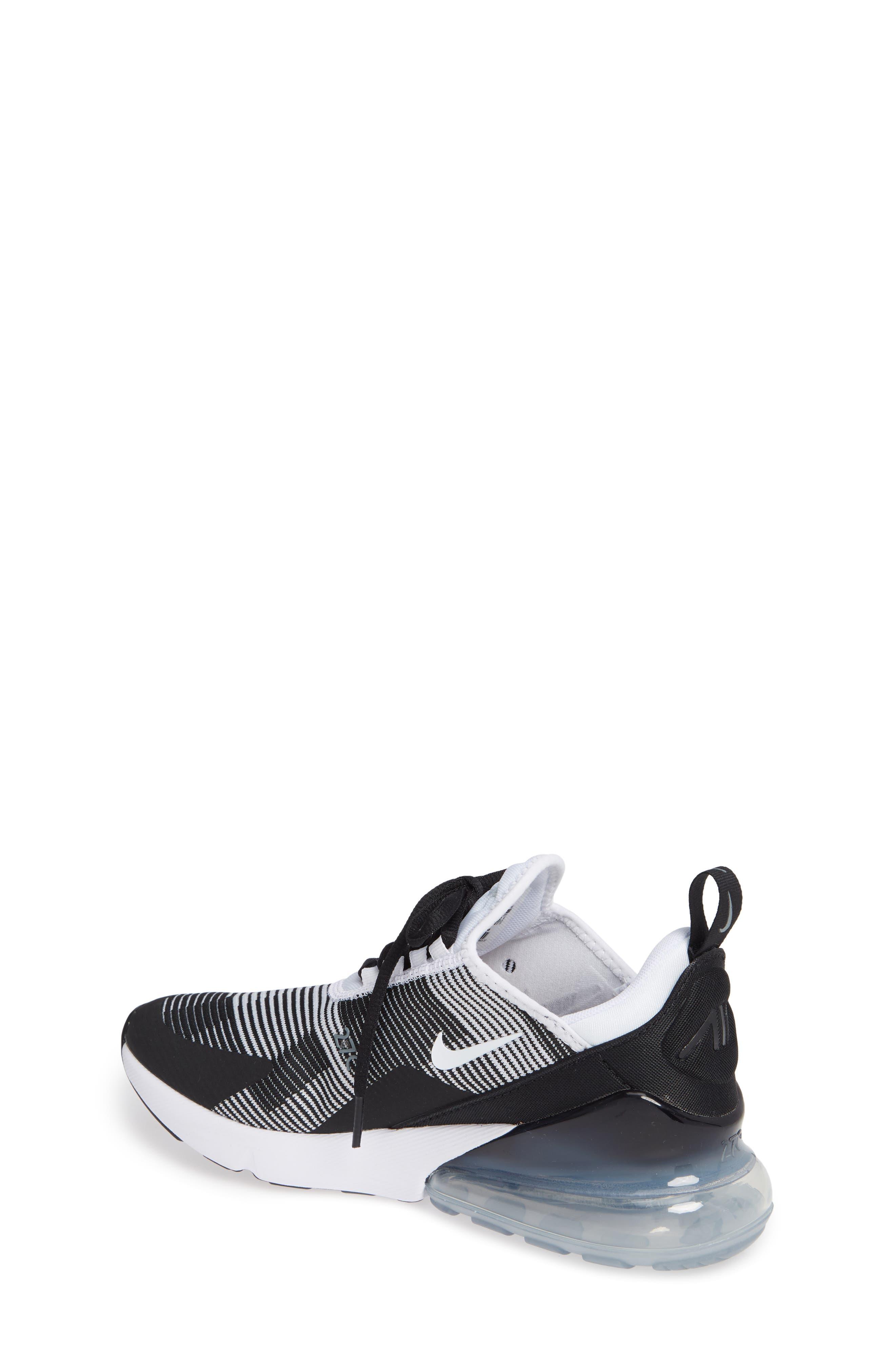 Air Max 270 Sneaker,                             Alternate thumbnail 2, color,                             BLACK/ WHITE/ GREY/ SILVER