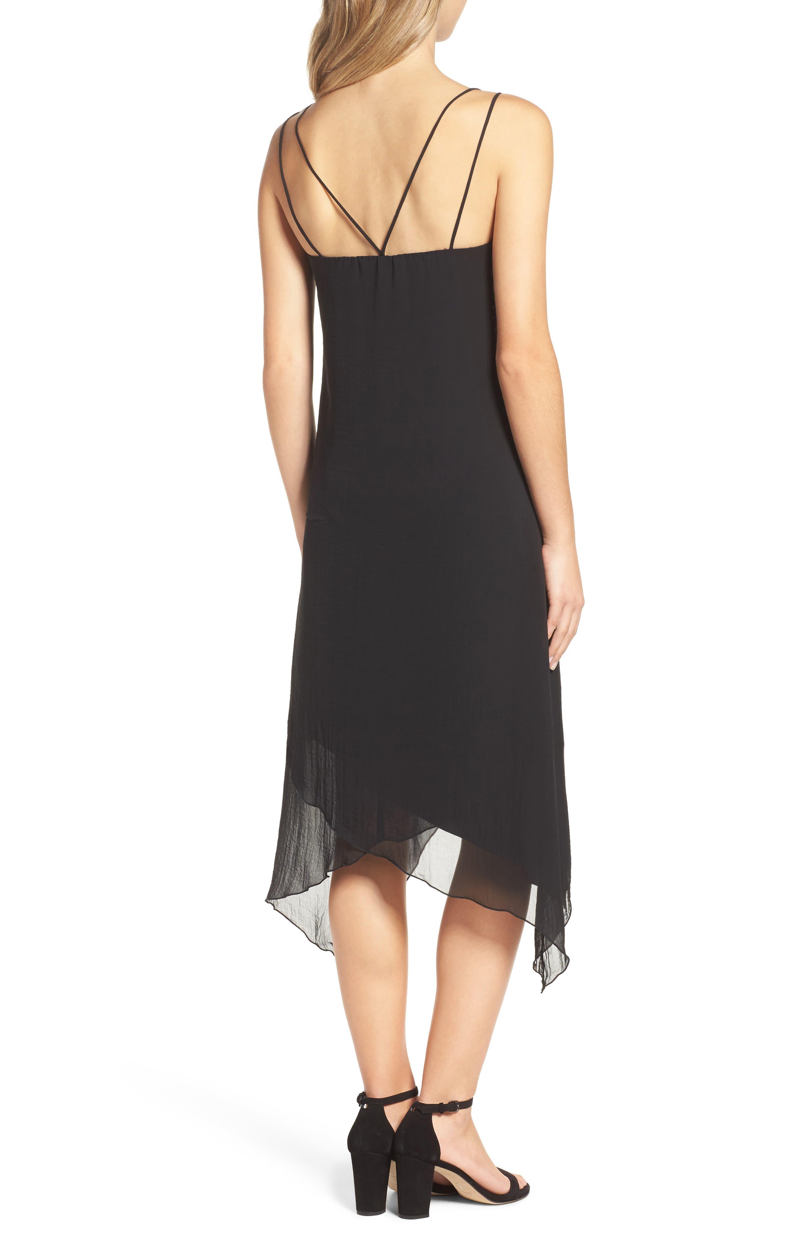 Chiffon Midi Dress,                             Alternate thumbnail 2, color,                             001