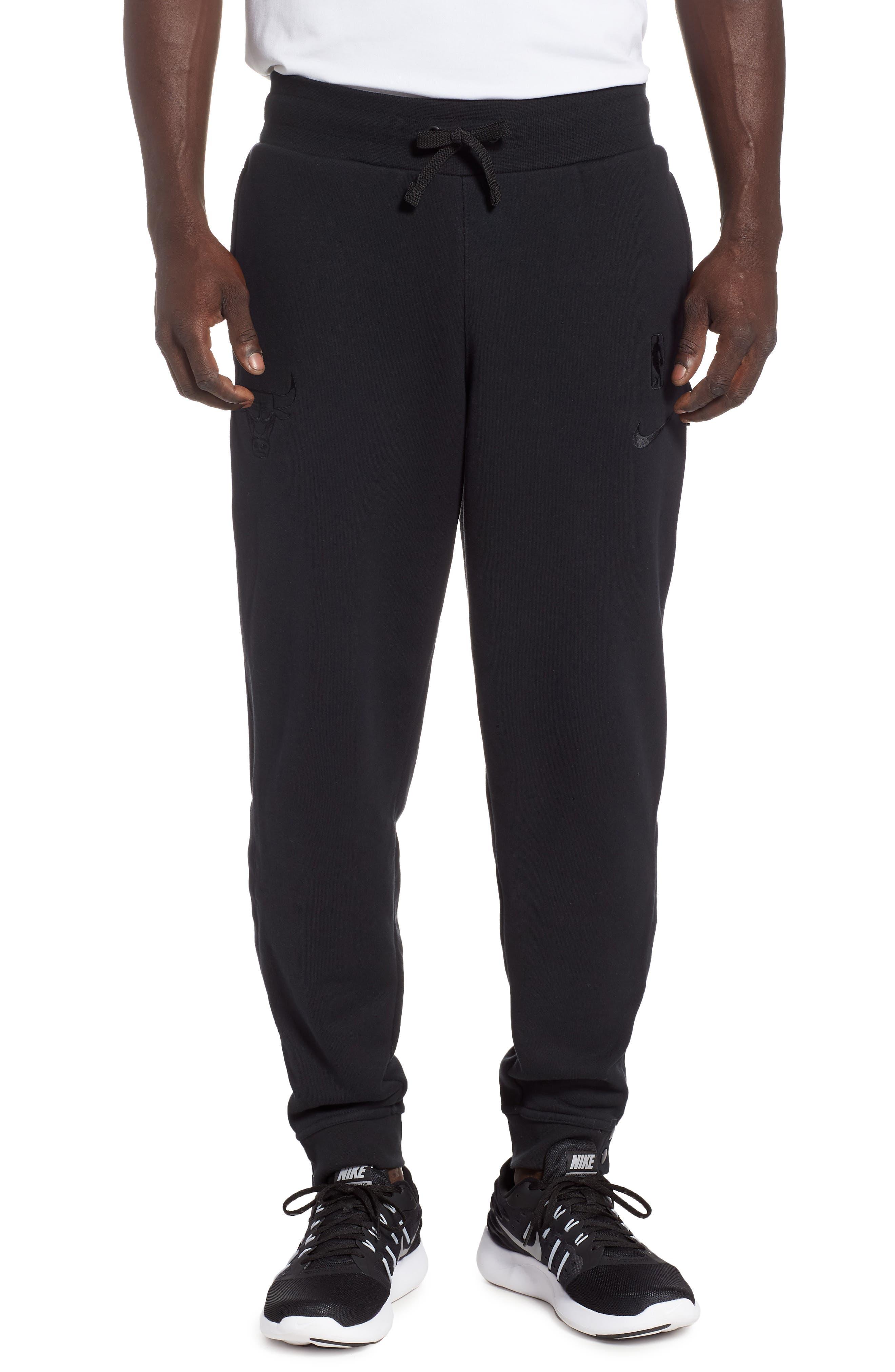 Chicago Bulls Courtside Snap Track Pants,                         Main,                         color, BLACK/ BLACK