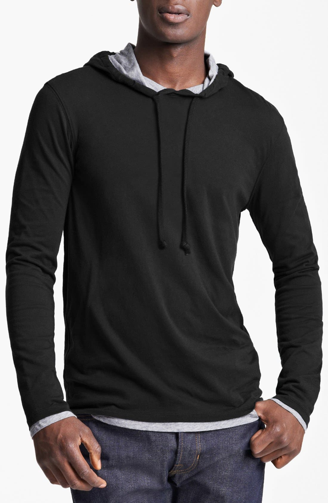 Double Layer Hoodie,                             Main thumbnail 1, color,                             001