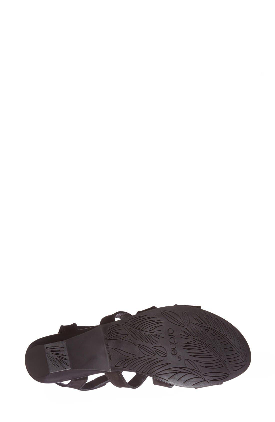 'Obela' Water Resistant Leather Sandal,                             Alternate thumbnail 20, color,