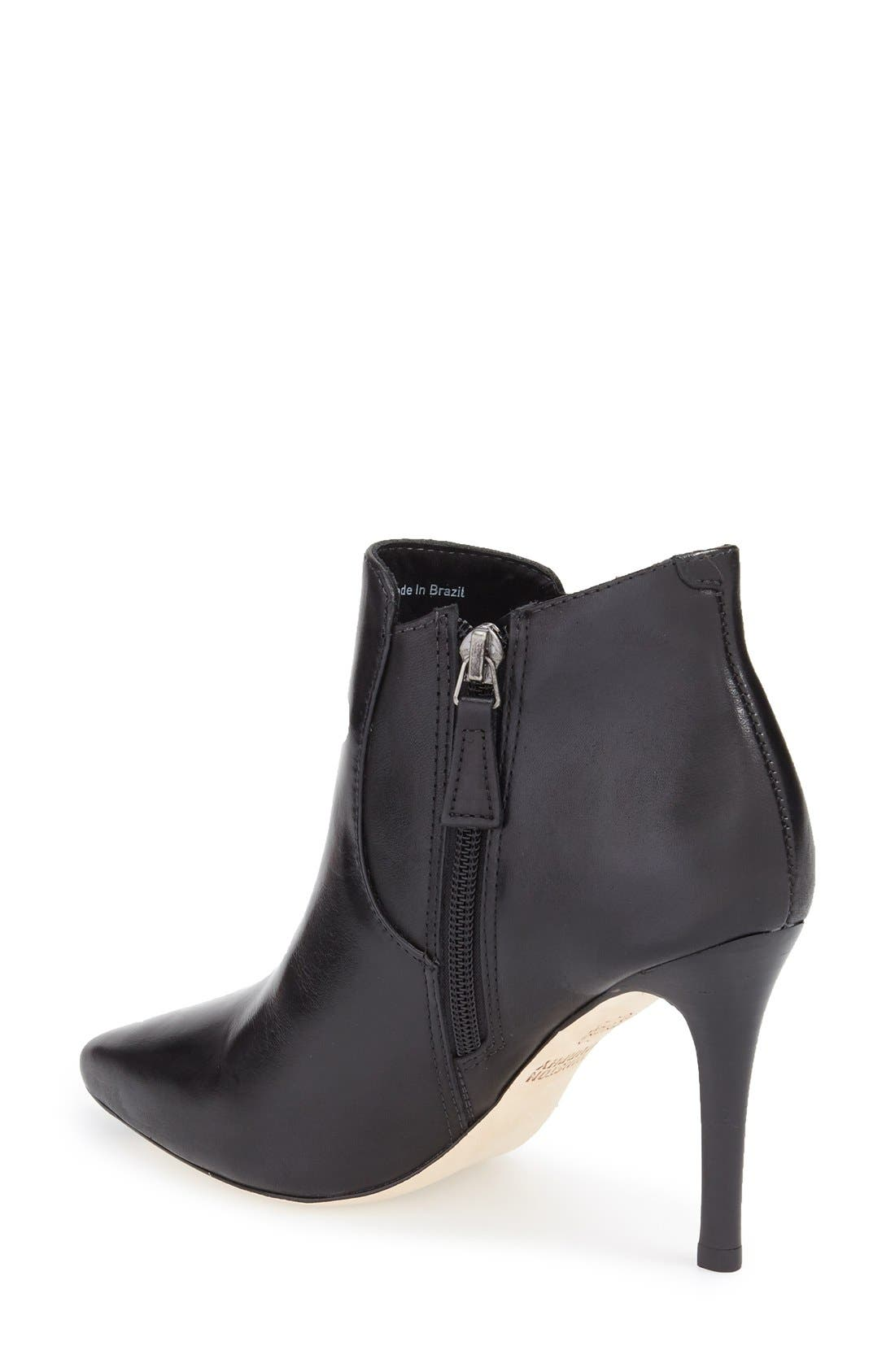 'Valerie' Pointy Toe Bootie,                             Alternate thumbnail 2, color,                             001