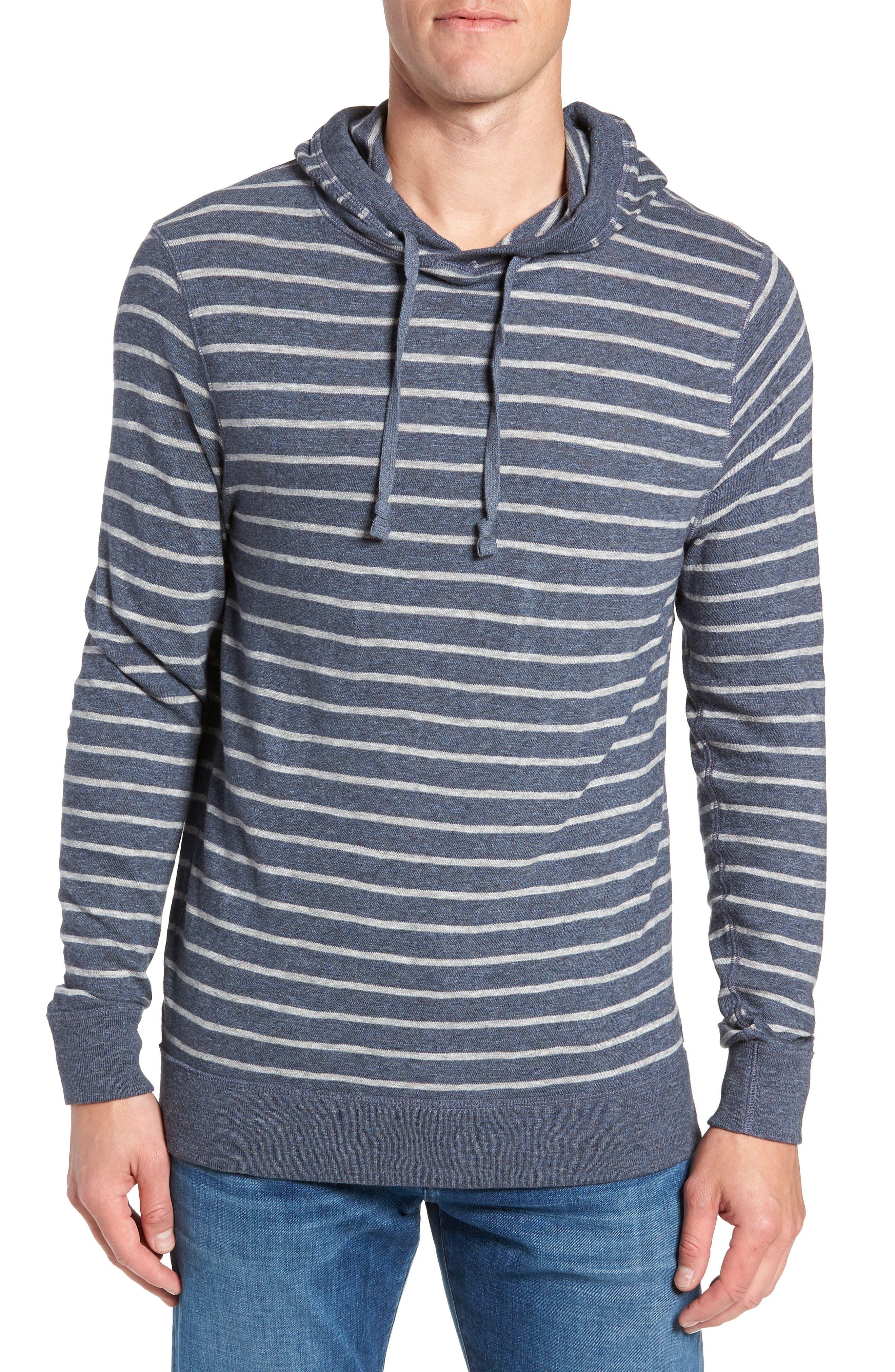Stripe Slub Hoodie,                         Main,                         color, 411