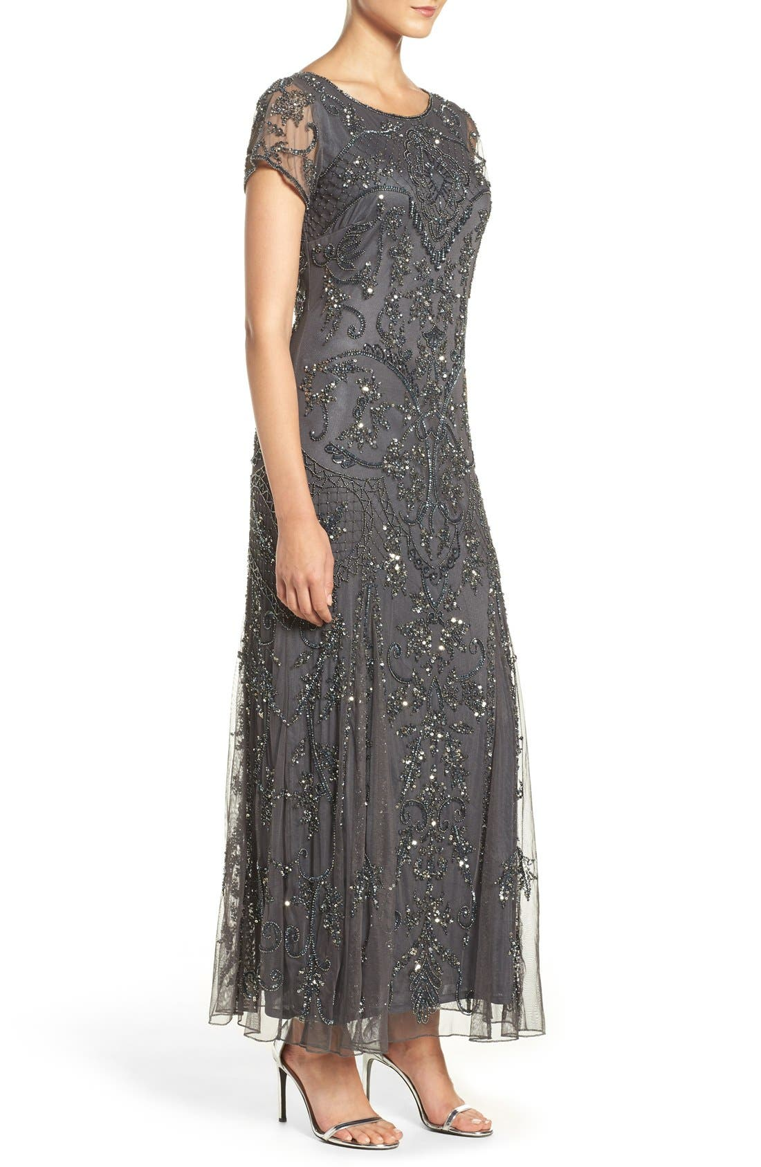 Embellished Mesh Gown,                             Alternate thumbnail 79, color,