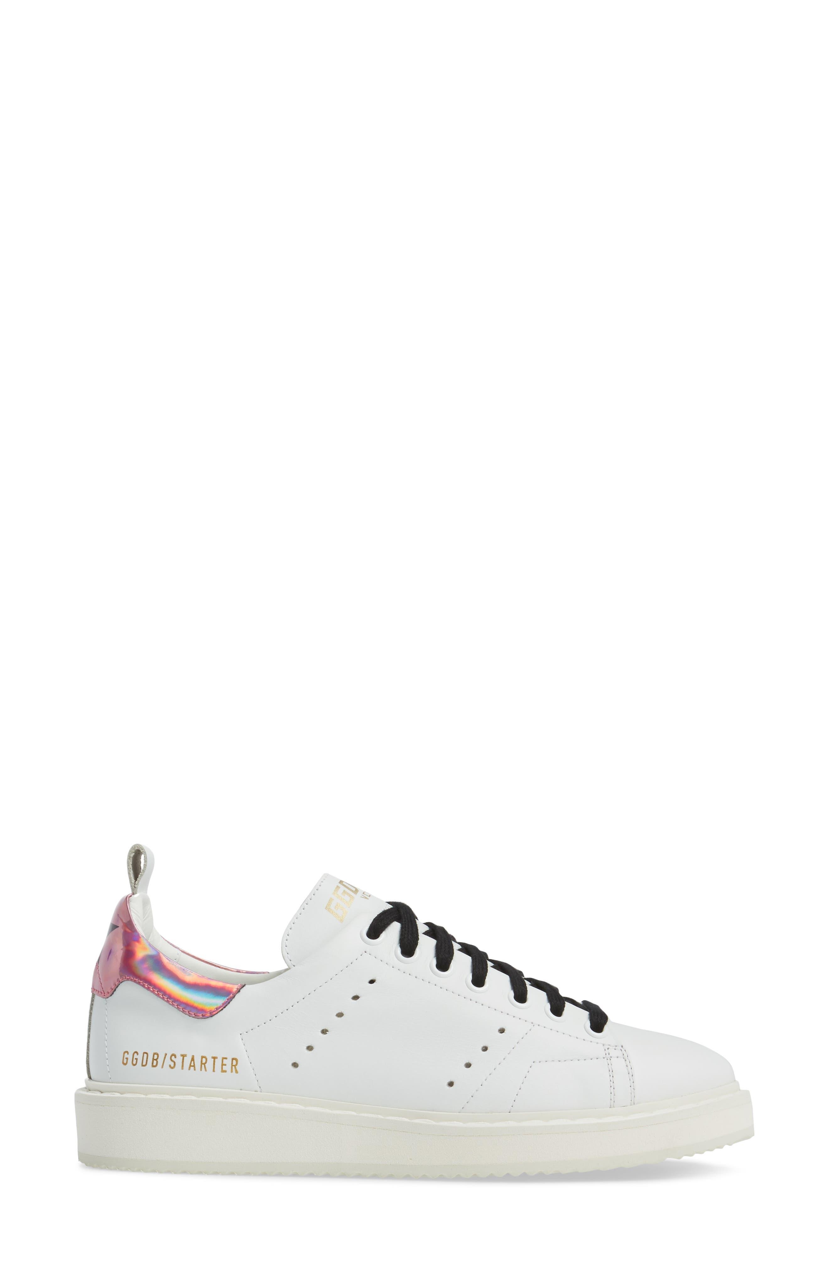 Starter Low Top Sneaker,                             Alternate thumbnail 3, color,                             100