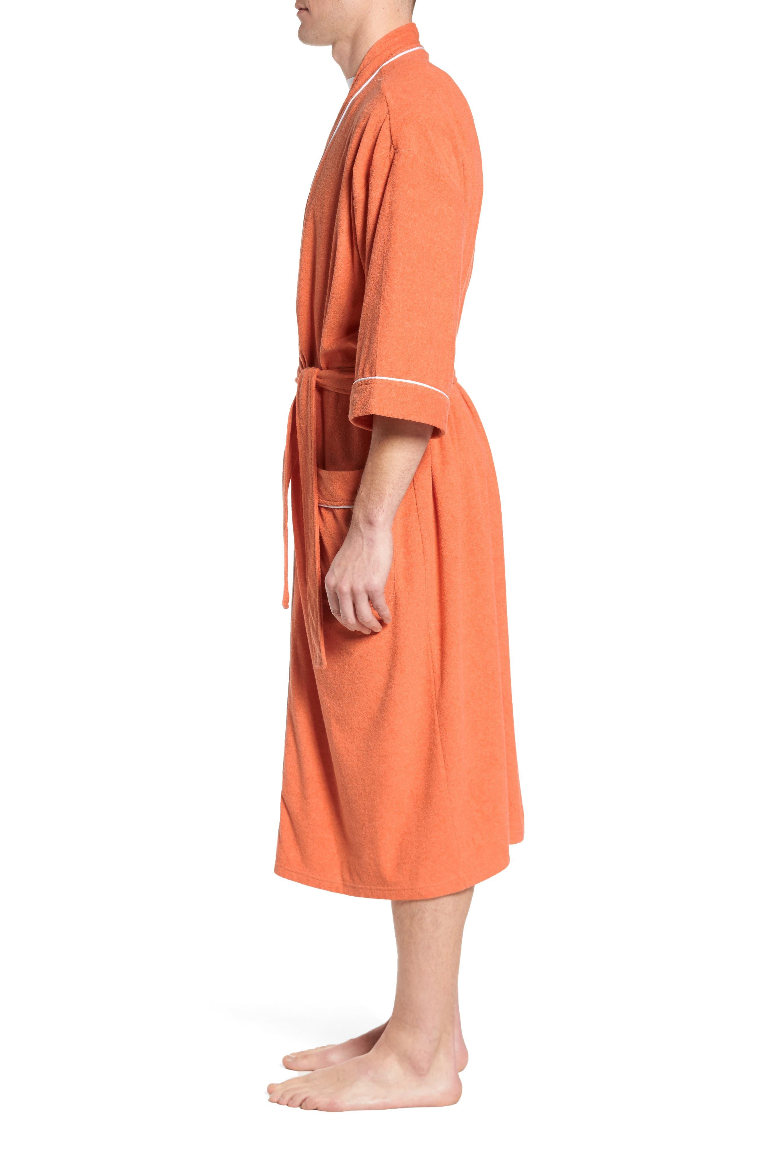 Kimono Cotton Blend Robe,                             Alternate thumbnail 6, color,
