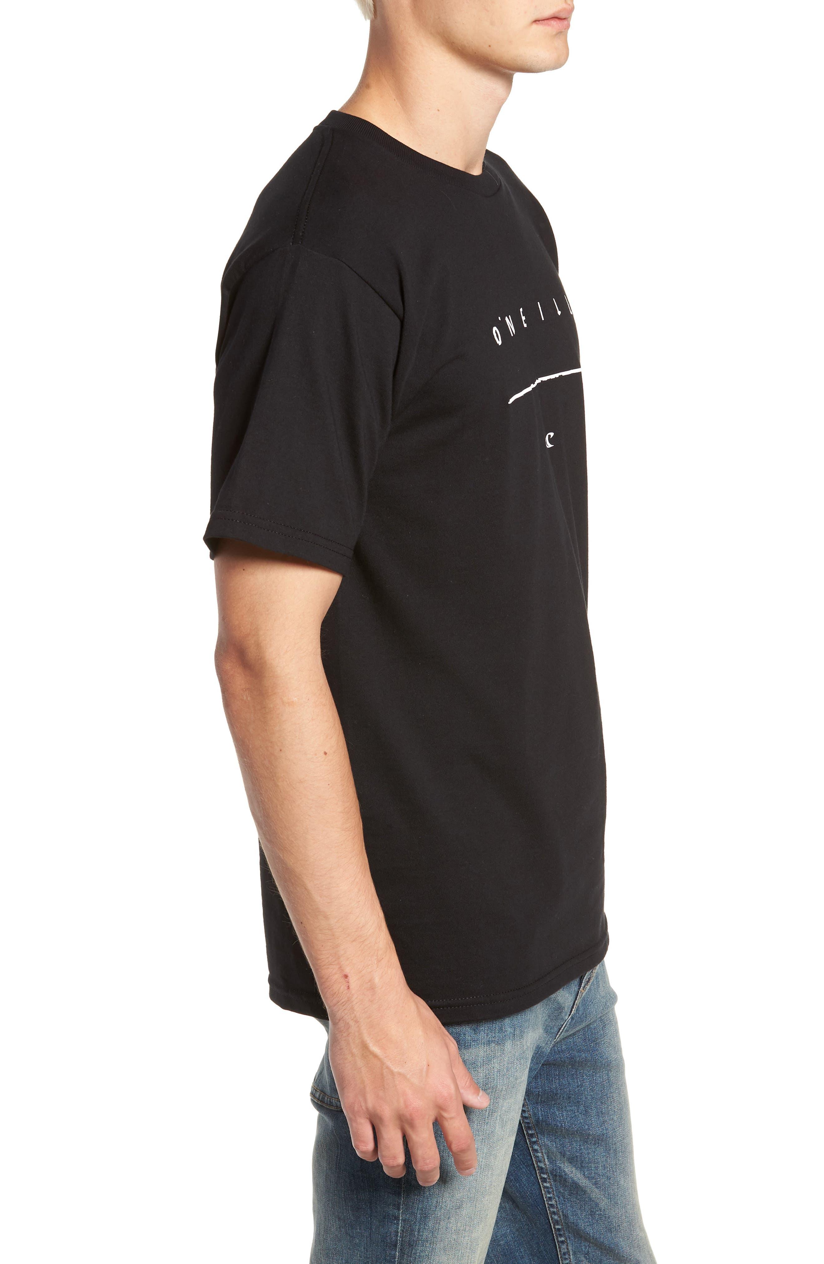 Taper Logo Graphic T-Shirt,                             Alternate thumbnail 3, color,                             BLACK