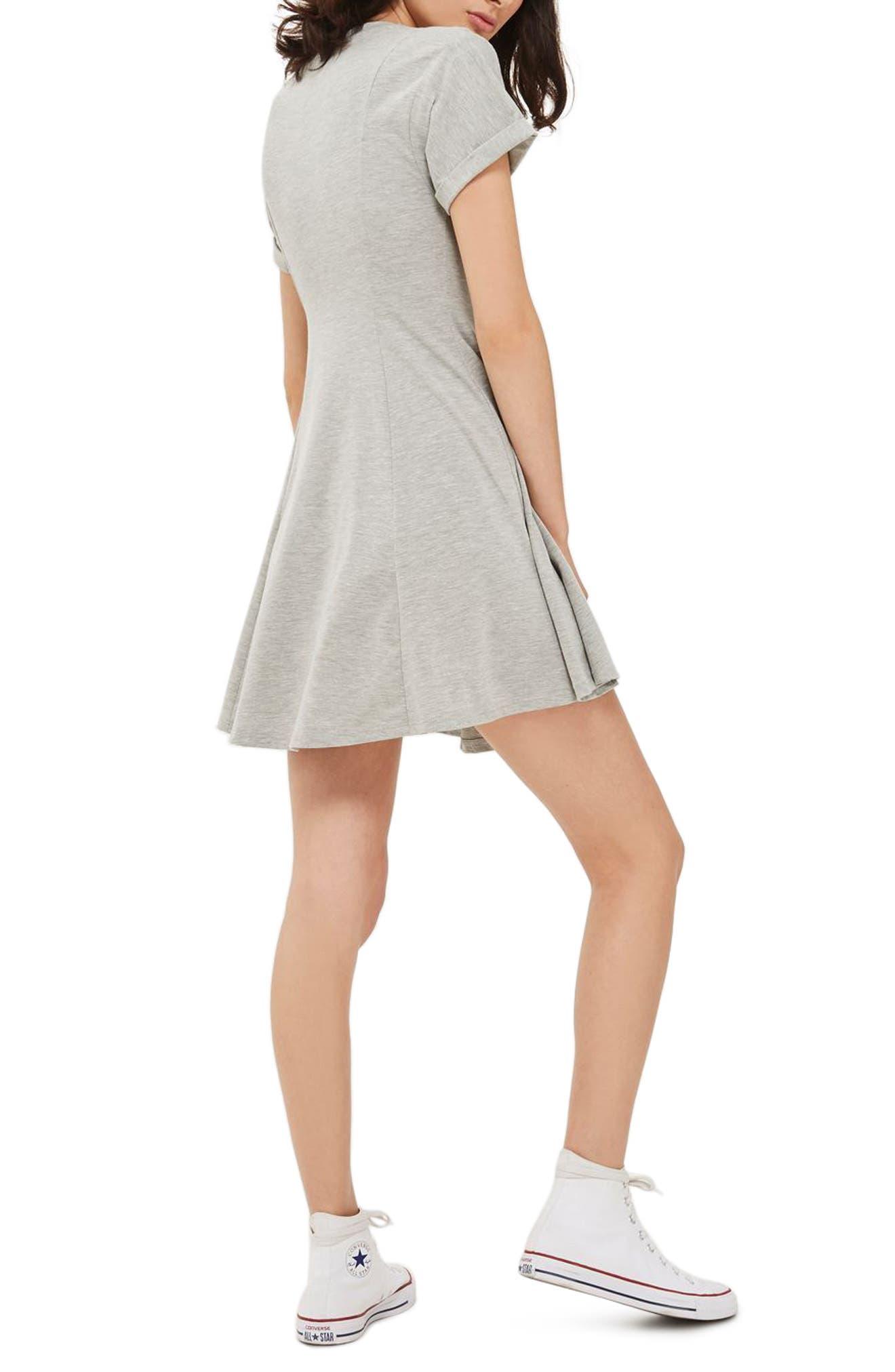 Corset Front Flippy Tunic Dress,                             Alternate thumbnail 5, color,