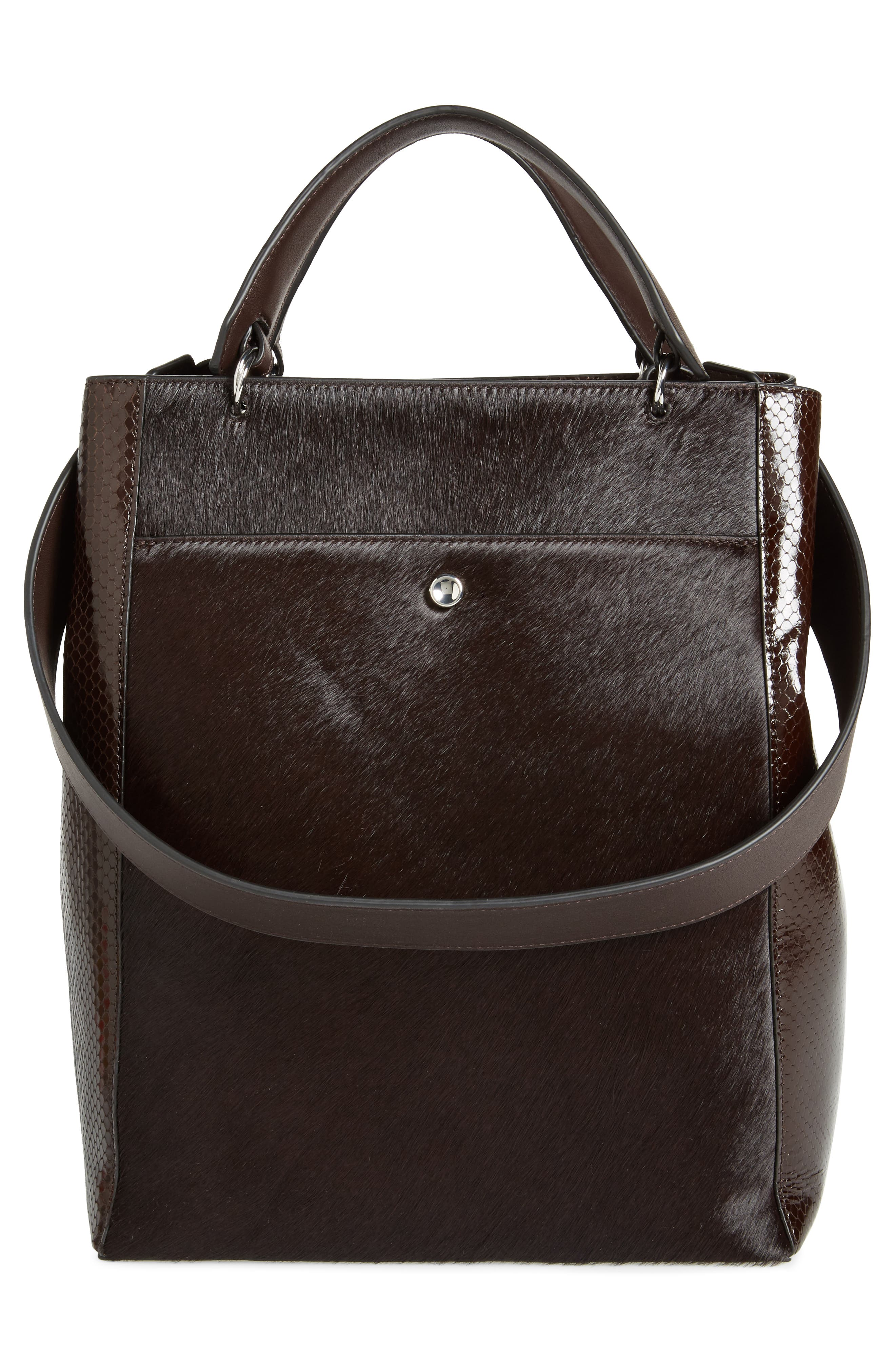 Large Eloise Genuine Calf Hair & Leather Tote,                             Alternate thumbnail 3, color,                             202