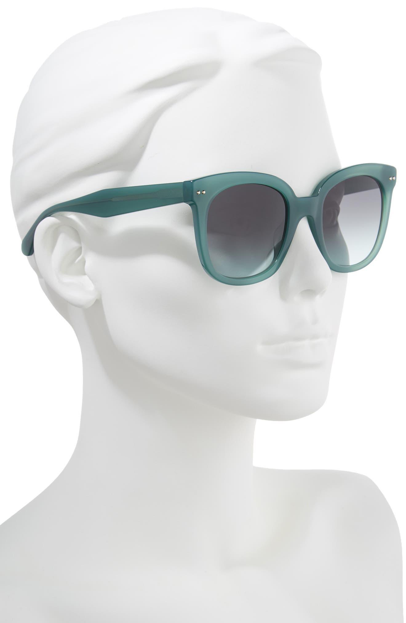 atalias 52mm square sunglasses,                             Alternate thumbnail 2, color,                             GREEN