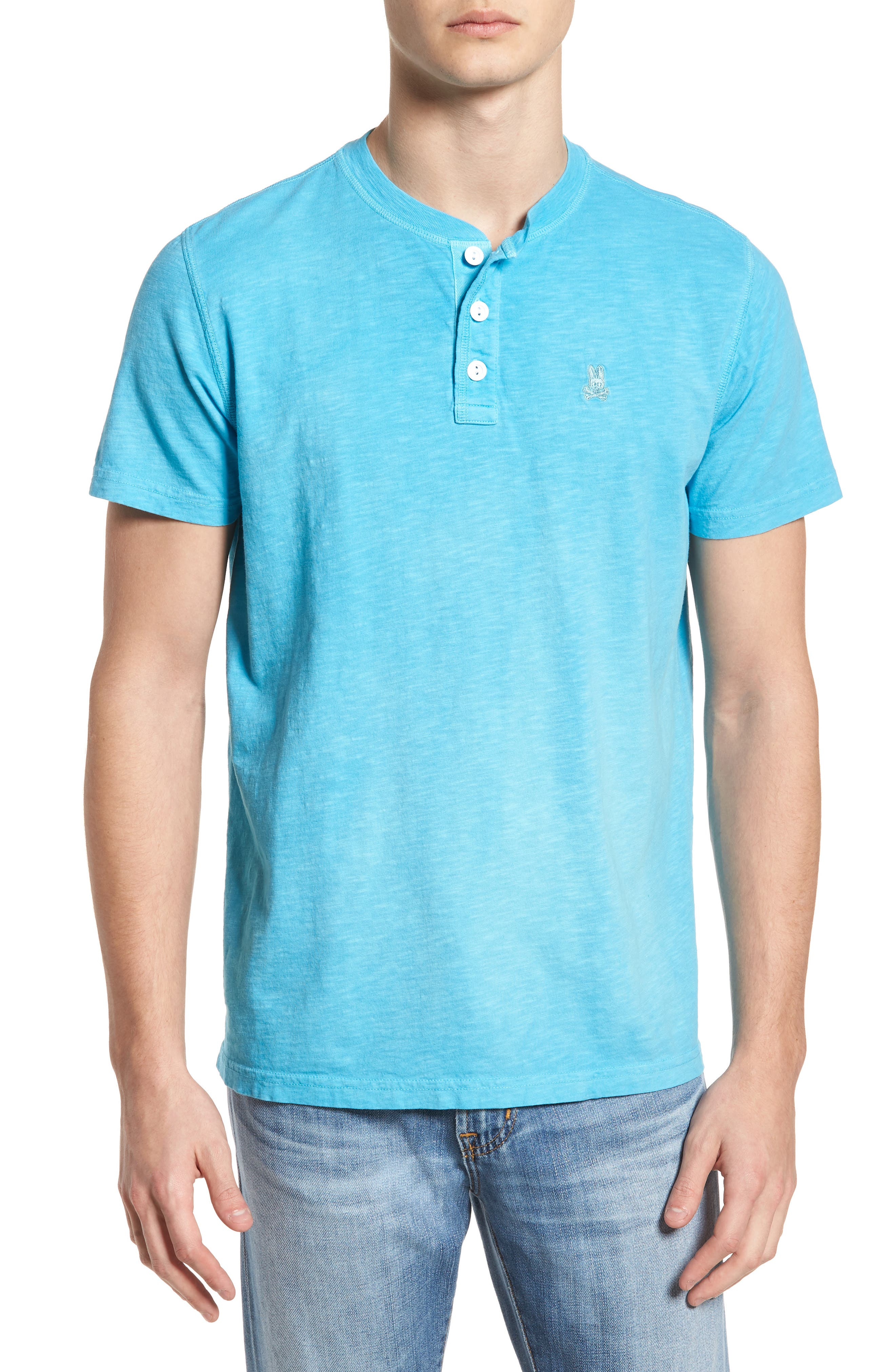 Sunwash Henley T-Shirt,                             Main thumbnail 4, color,